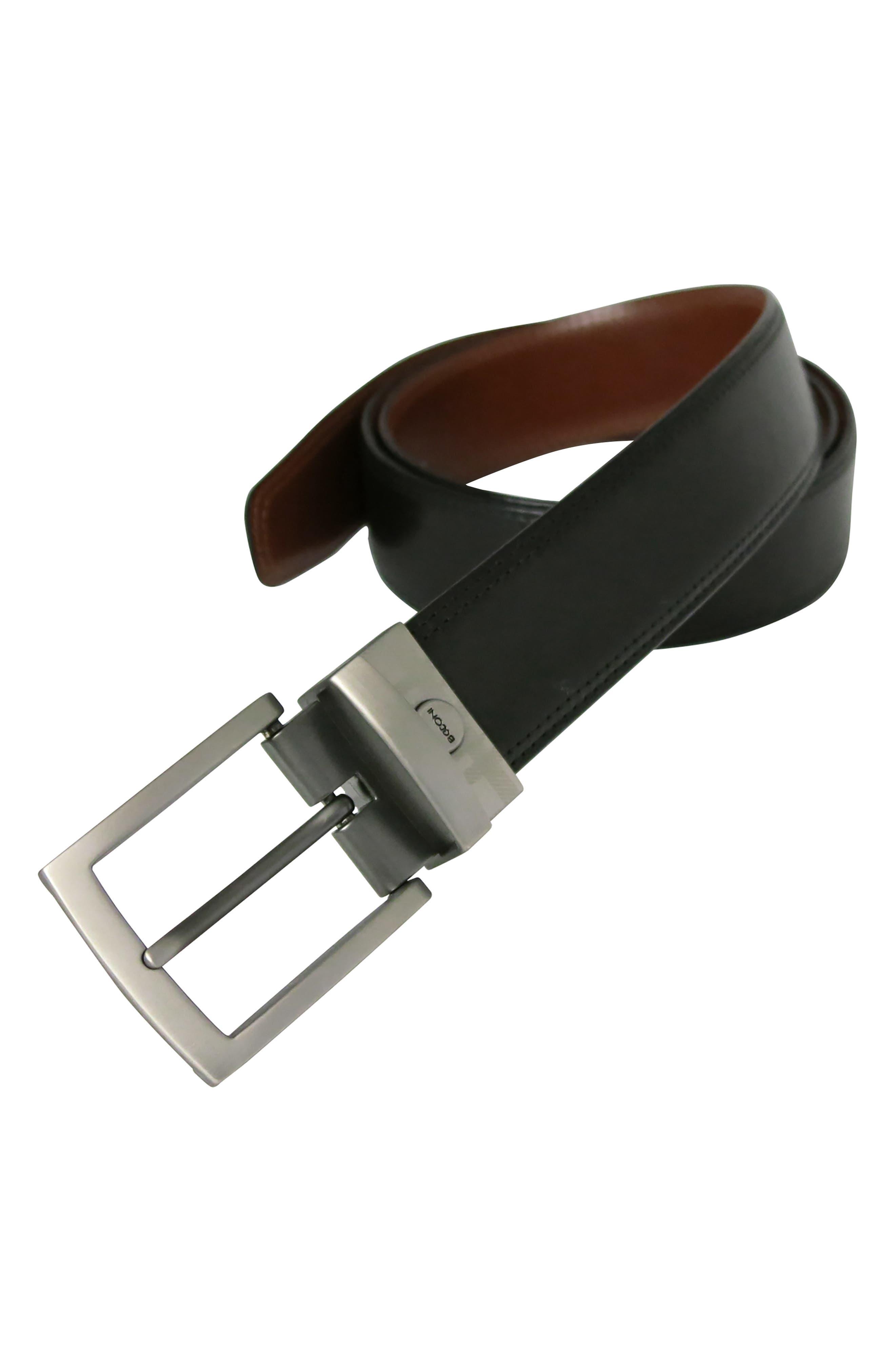 Reversible Leather Belt,                             Alternate thumbnail 5, color,                             BLACK/ BROWN