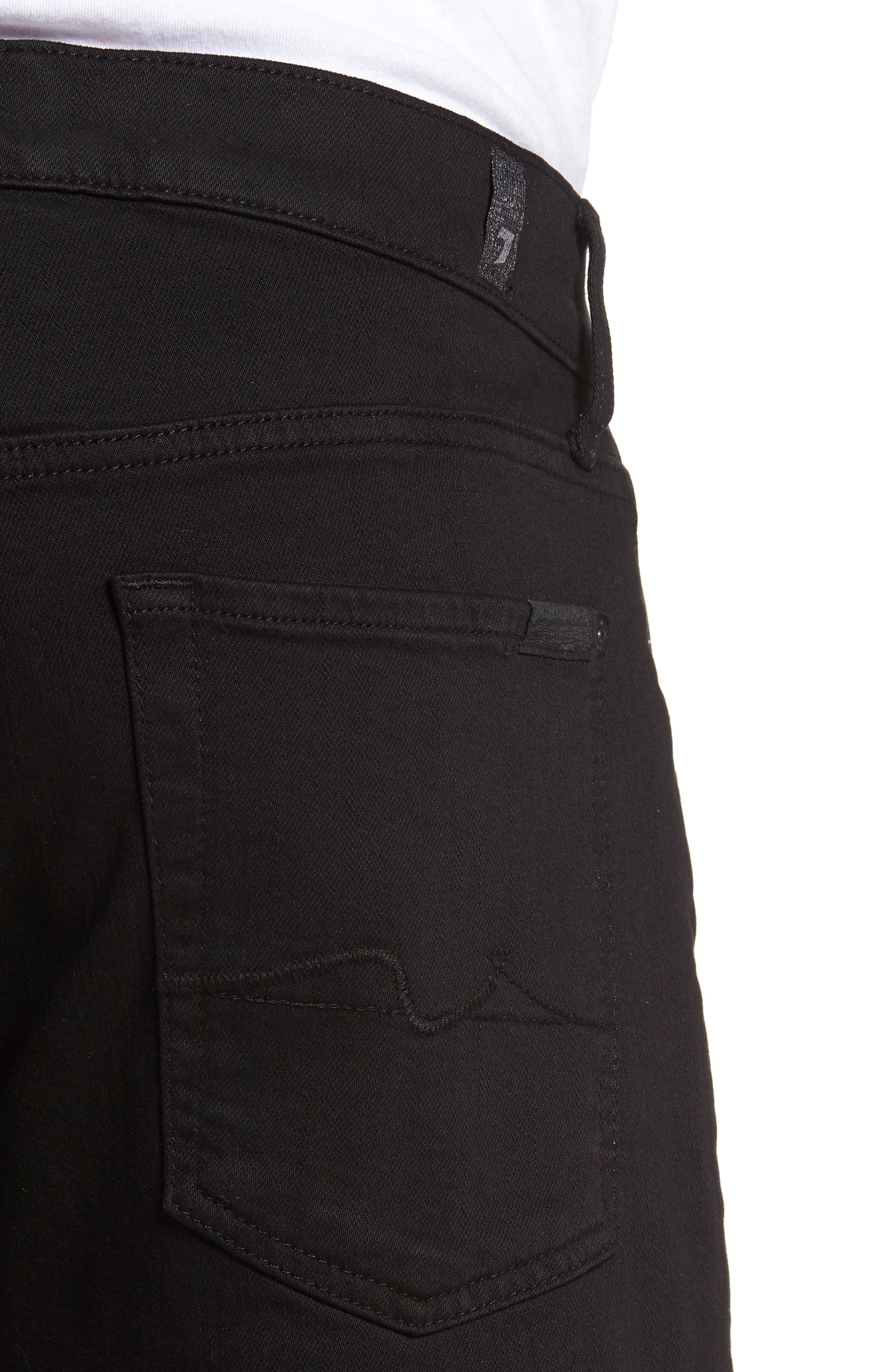 Luxe Performance - Slimmy Slim Fit Jeans,                             Alternate thumbnail 4, color,                             ANNEX BLACK