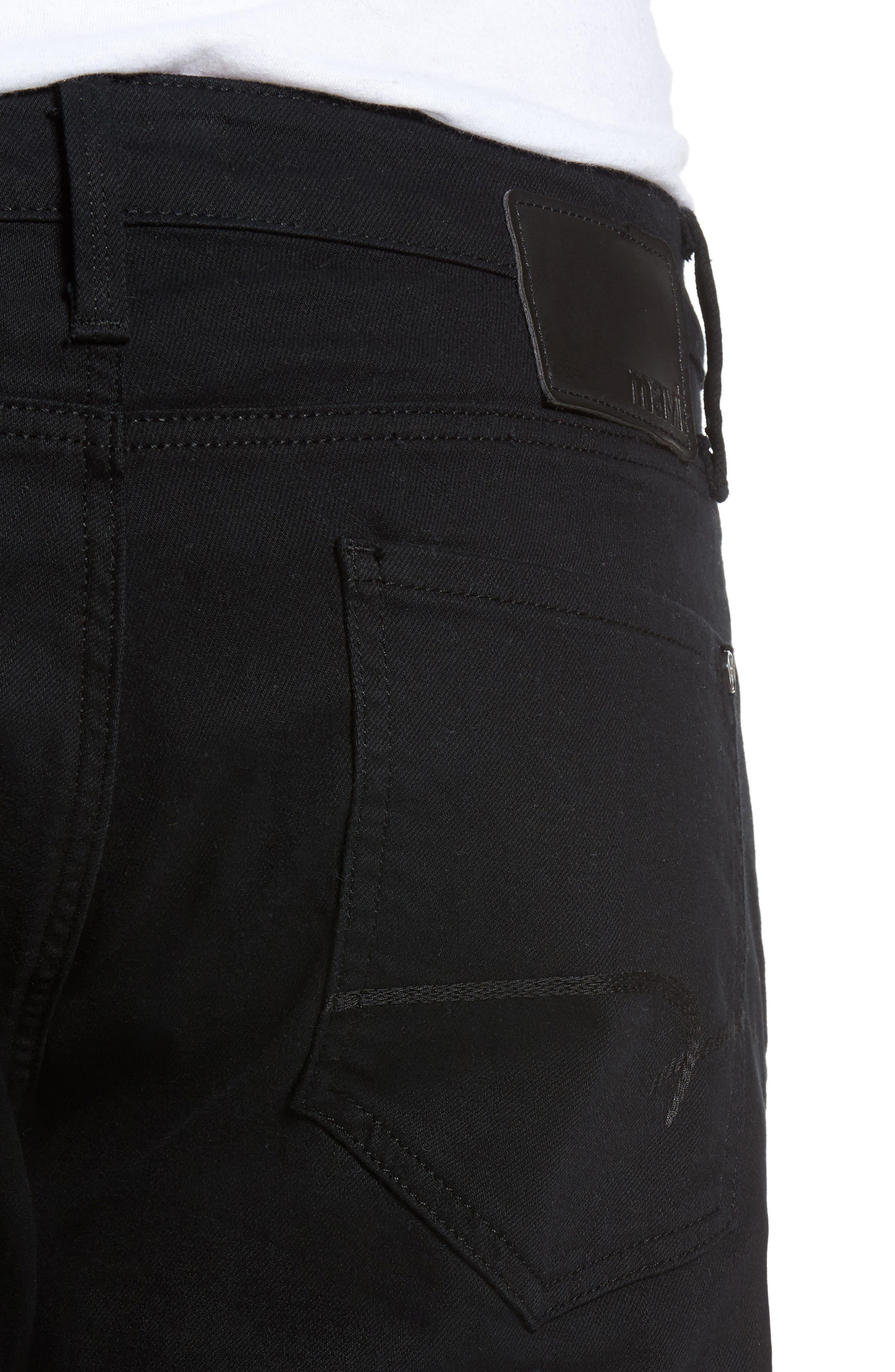 Zach Straight Leg Jeans,                             Alternate thumbnail 4, color,                             BLACK WILLIAMSBURG
