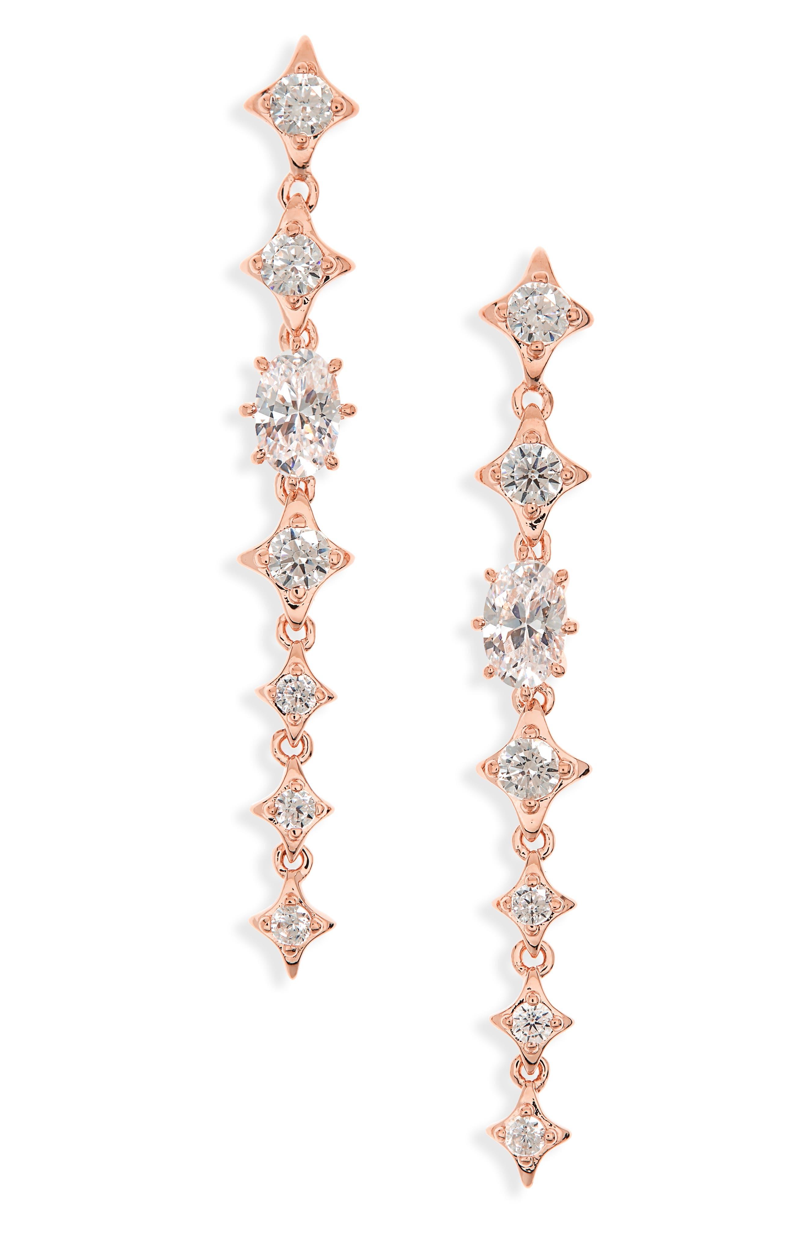 Boho Linear Drop Earrings,                             Main thumbnail 2, color,