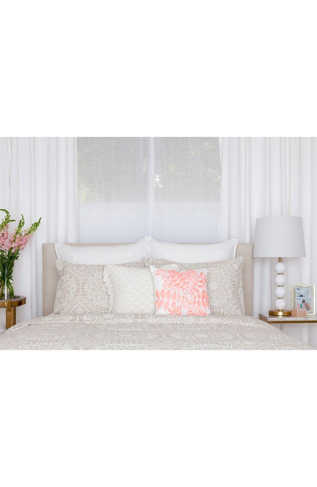 'Lace Medallion' Crochet Pillow,                             Alternate thumbnail 5, color,