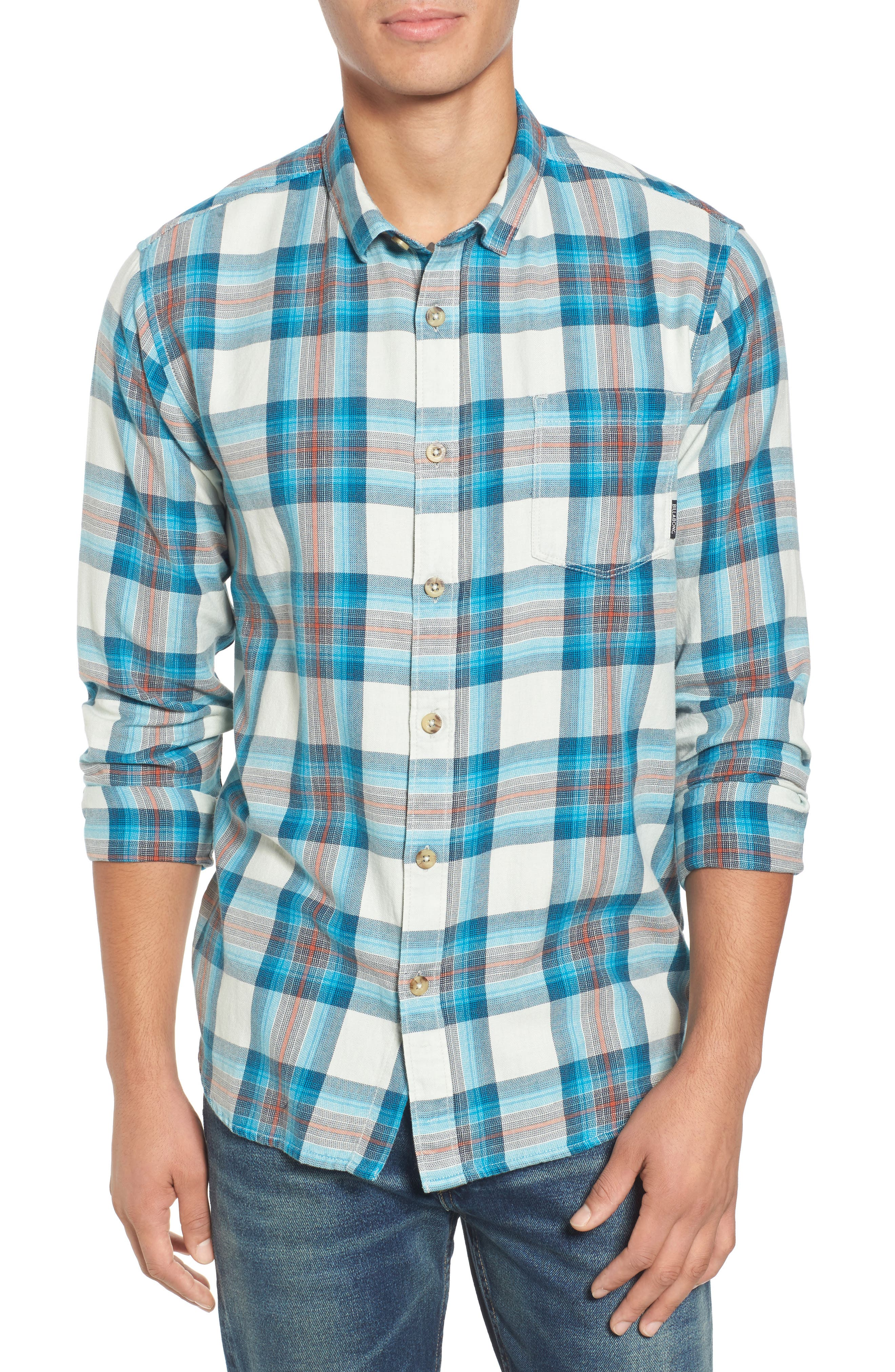 Freemont Flannel Shirt,                             Main thumbnail 1, color,                             020