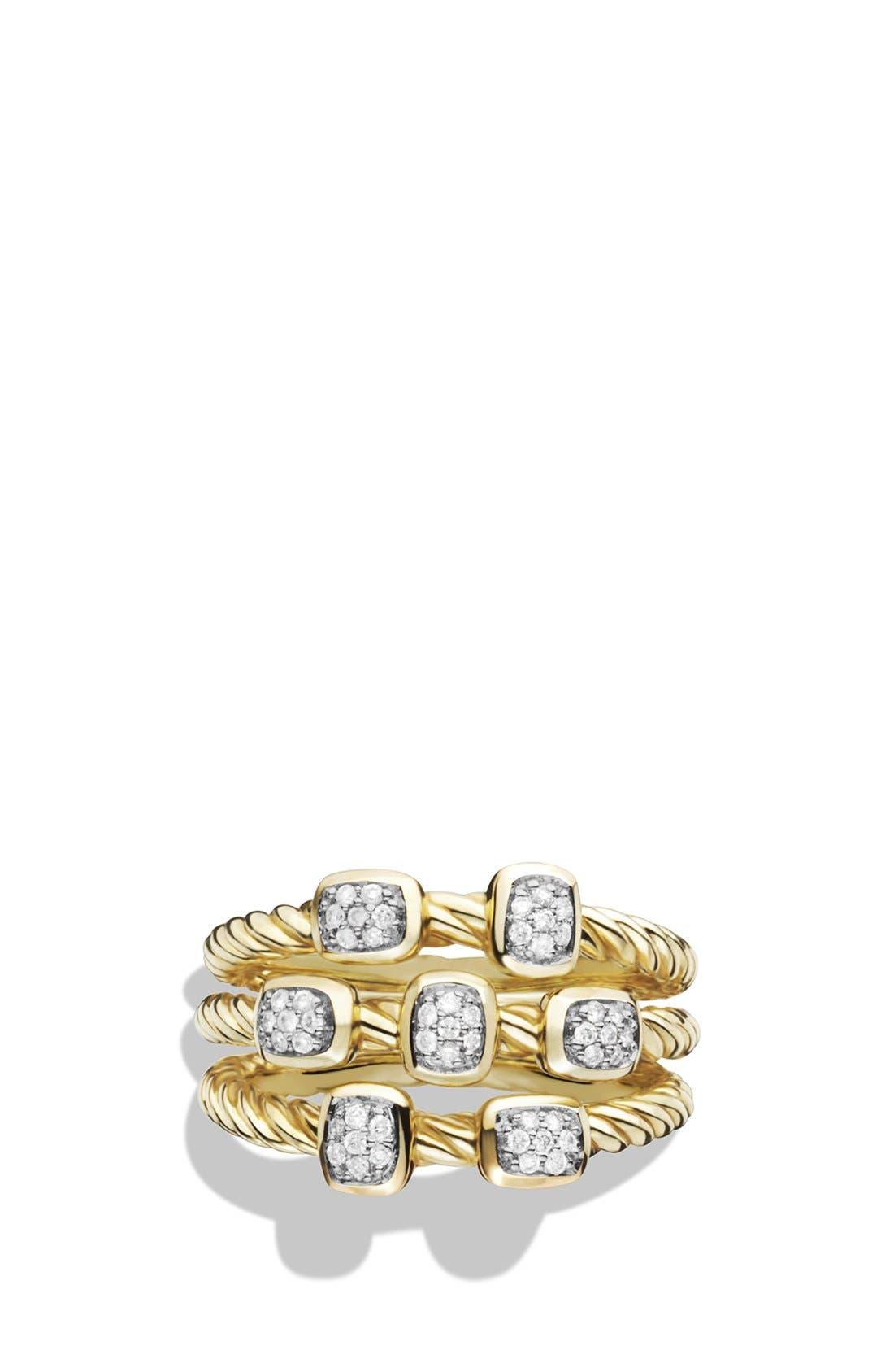 'Confetti' Ring with Diamonds in Gold,                             Alternate thumbnail 3, color,                             DIAMOND