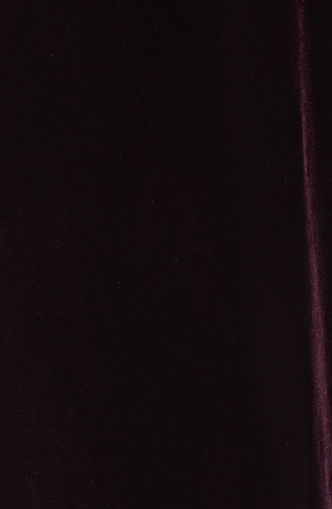 Embellished Velvet Shift Dress,                             Alternate thumbnail 5, color,