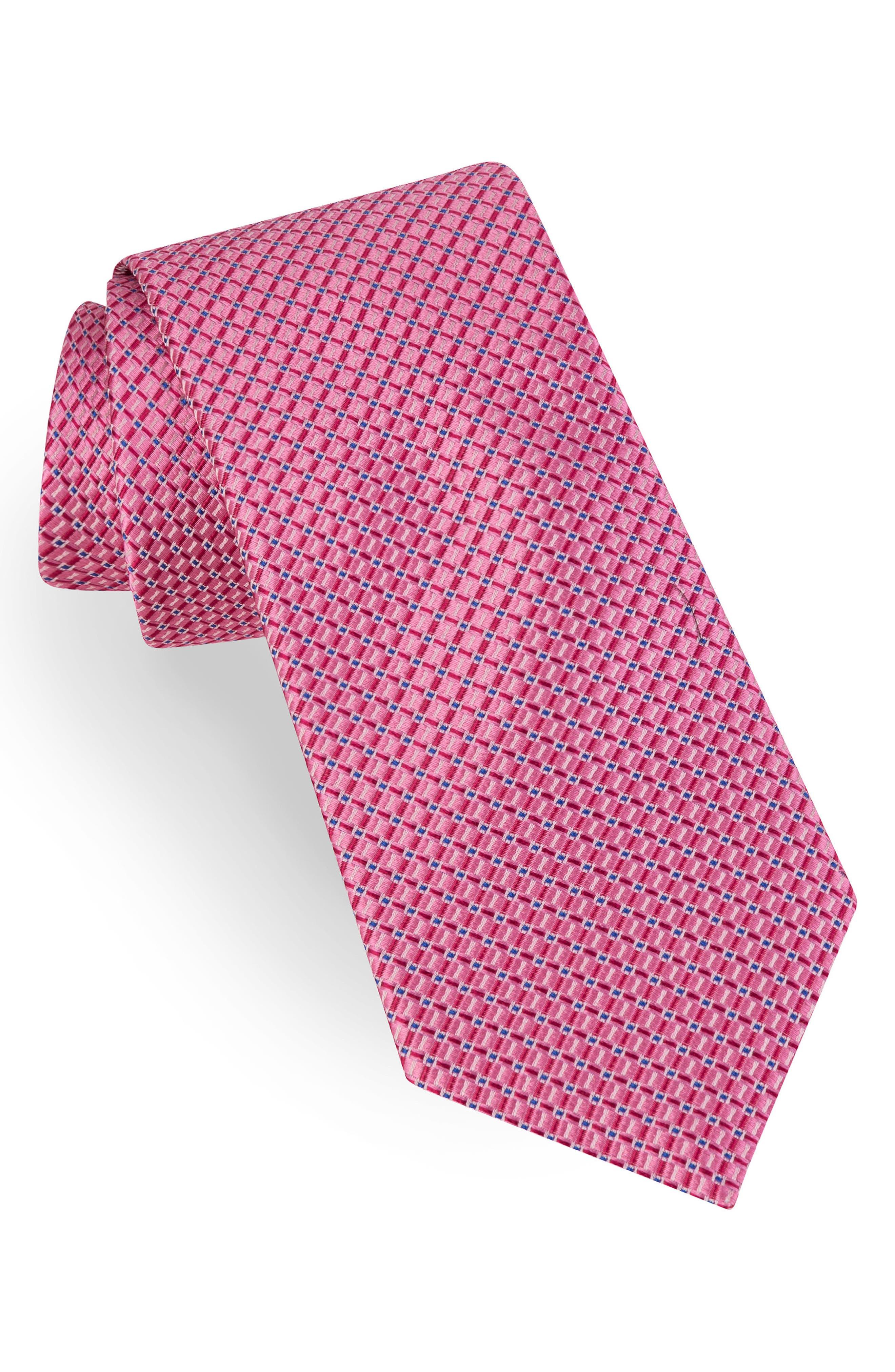 Grid Silk Tie,                             Main thumbnail 3, color,