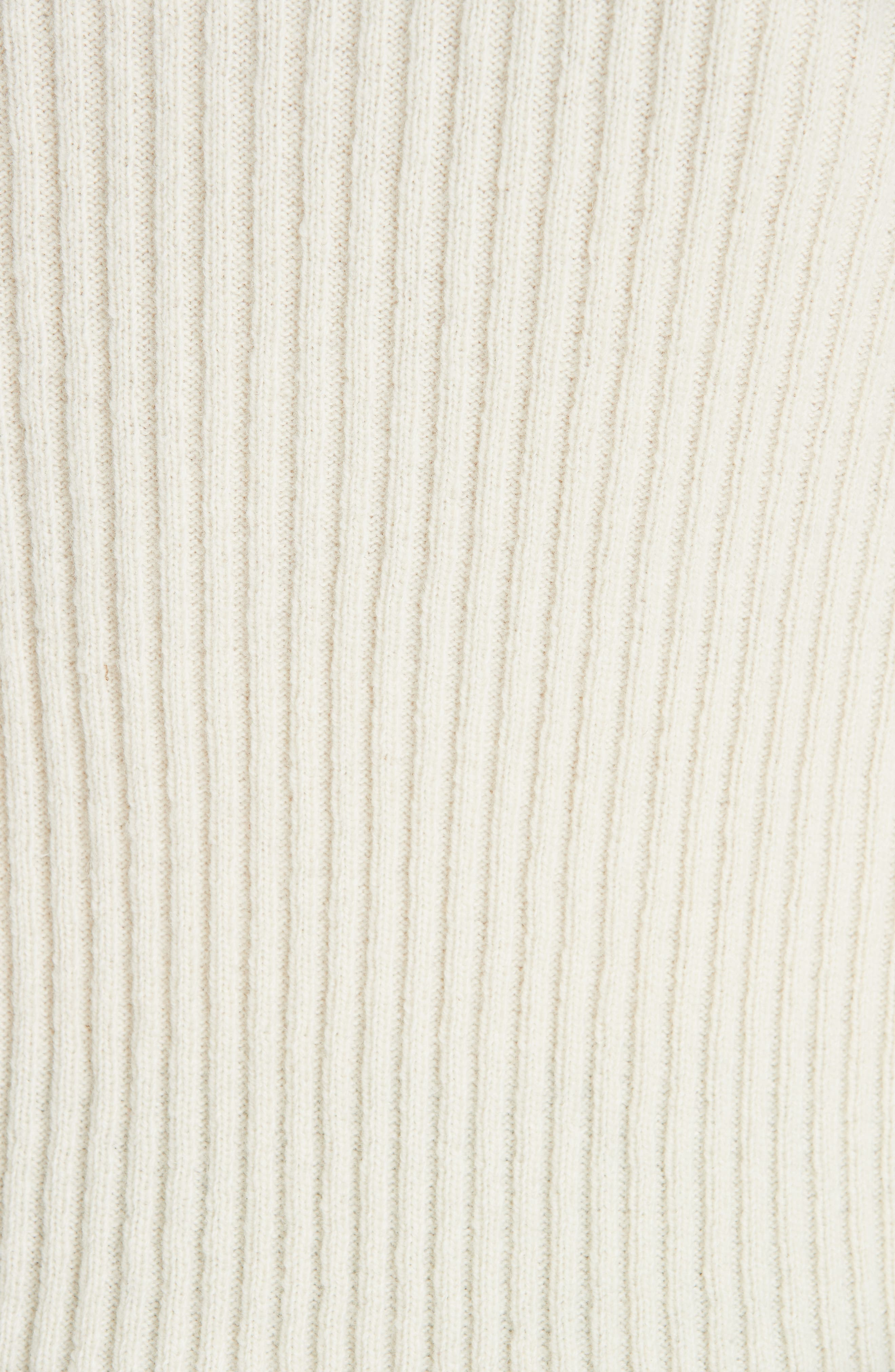 Quilt Jacquard Stripe Sweater,                             Alternate thumbnail 5, color,                             ECRU HAY NAVY