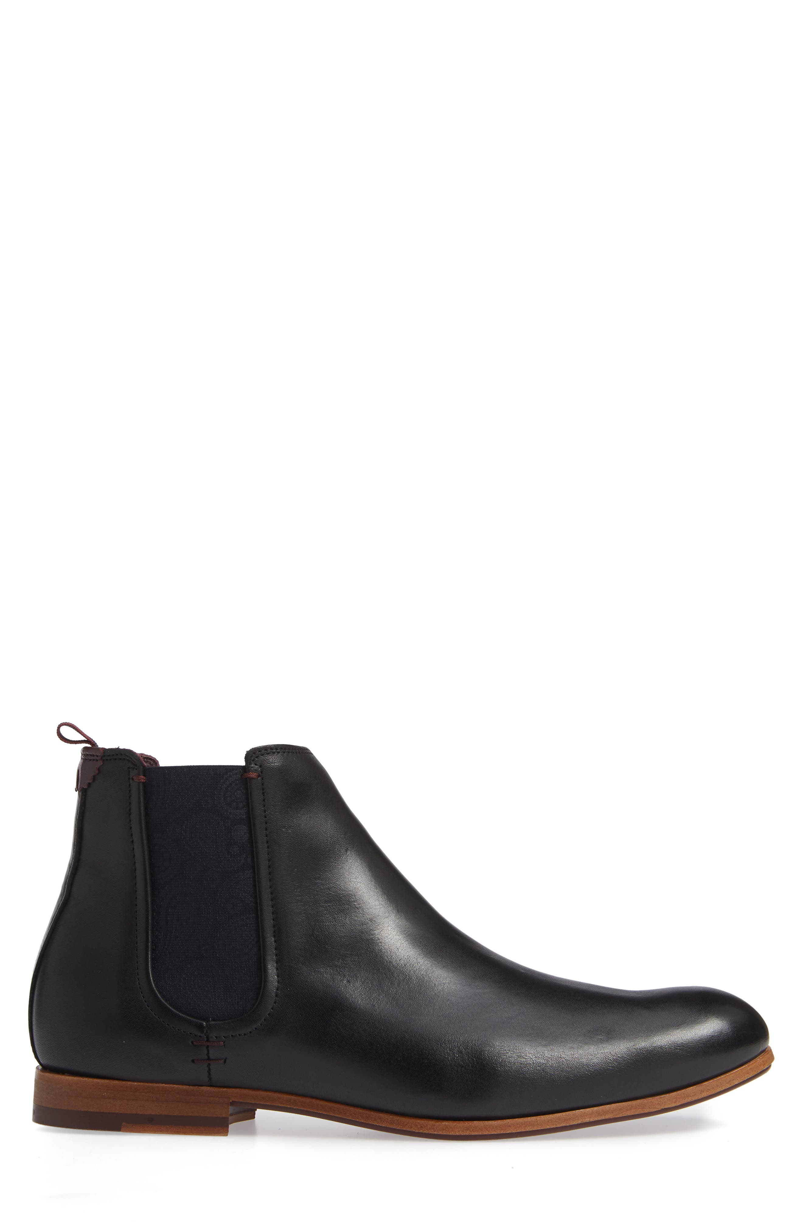 Whron Chelsea Boot,                             Alternate thumbnail 3, color,                             BLACK