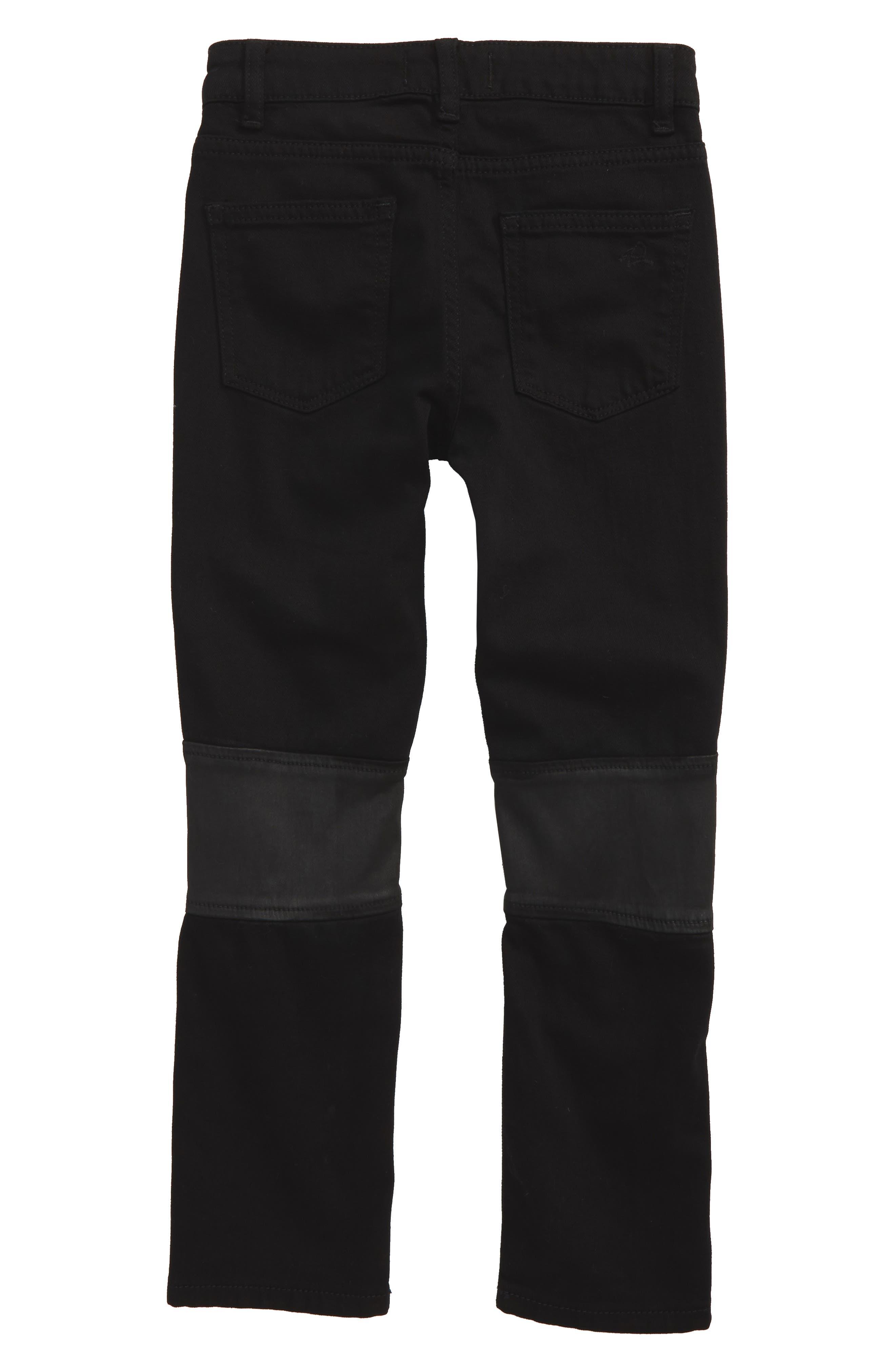 Hawke Skinny Moto Jeans,                             Alternate thumbnail 2, color,                             001