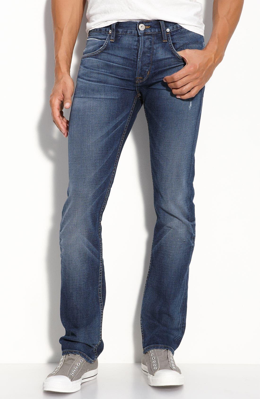 'Byron' Straight Leg Selvedge Jeans,                             Alternate thumbnail 2, color,                             400