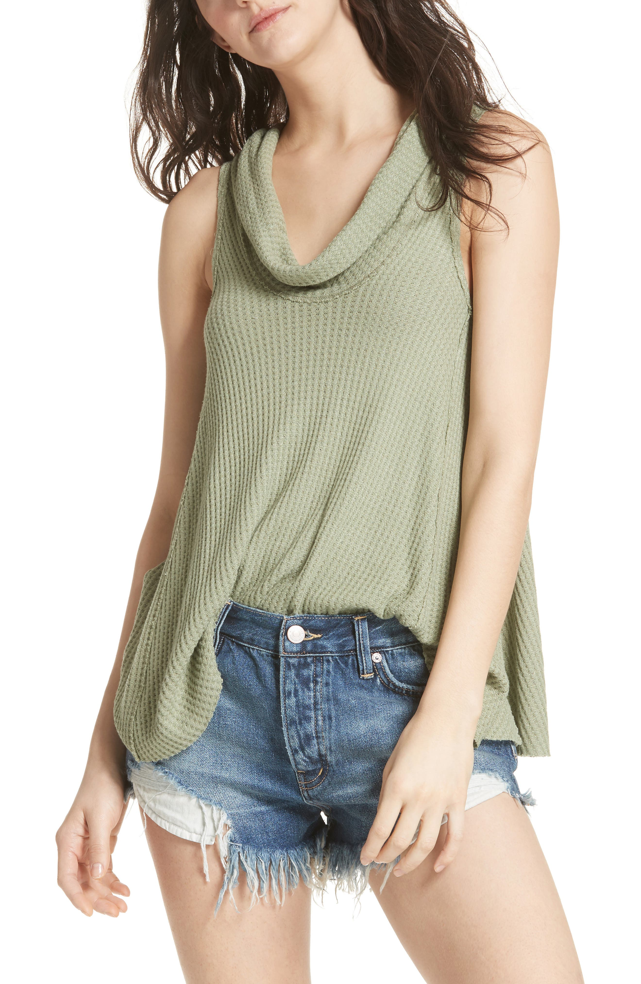 We the Free by Free People Swing It Cowl Tank,                             Main thumbnail 3, color,