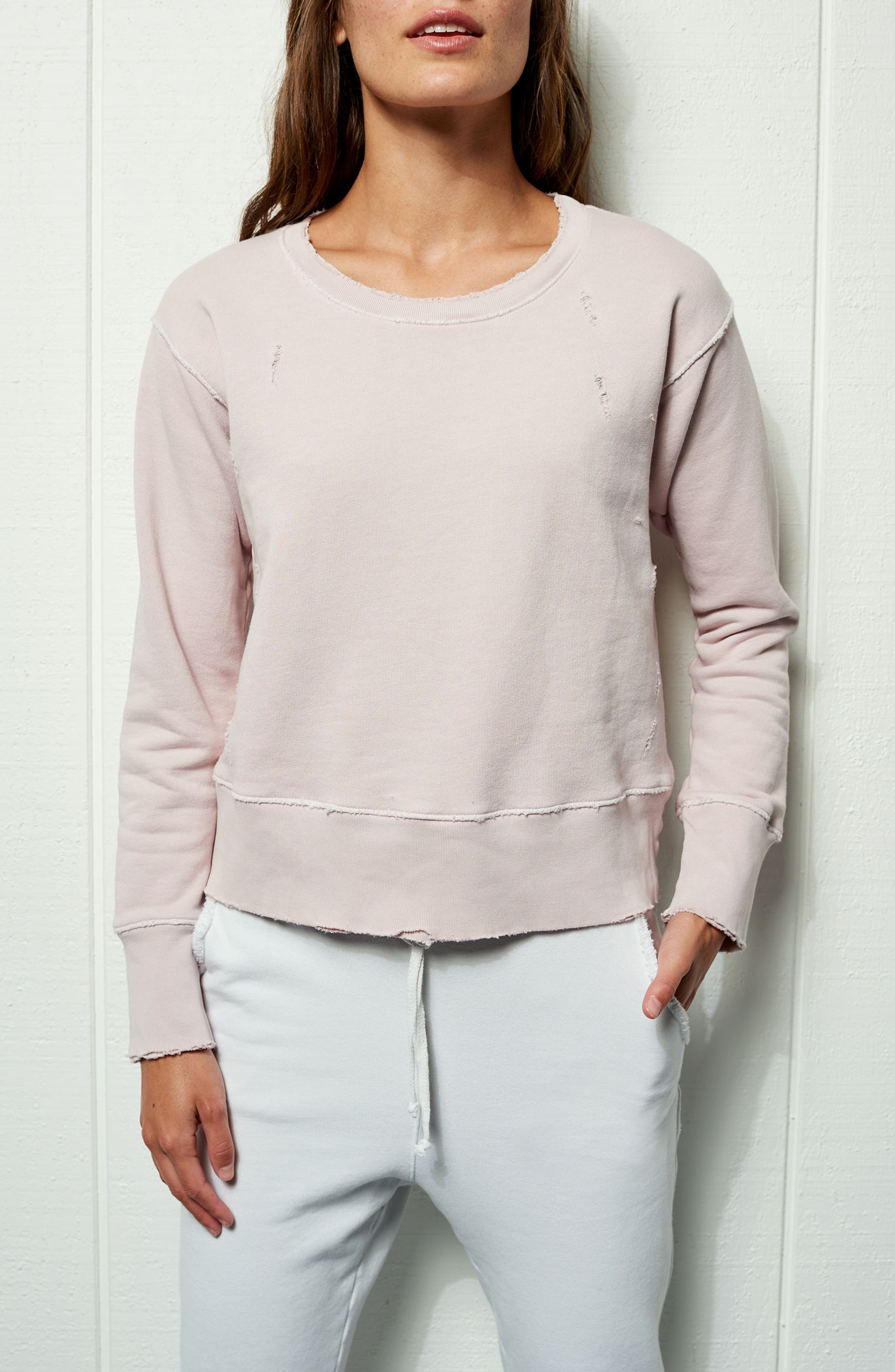 Tee Lab Cotton Sweatshirt,                             Alternate thumbnail 8, color,