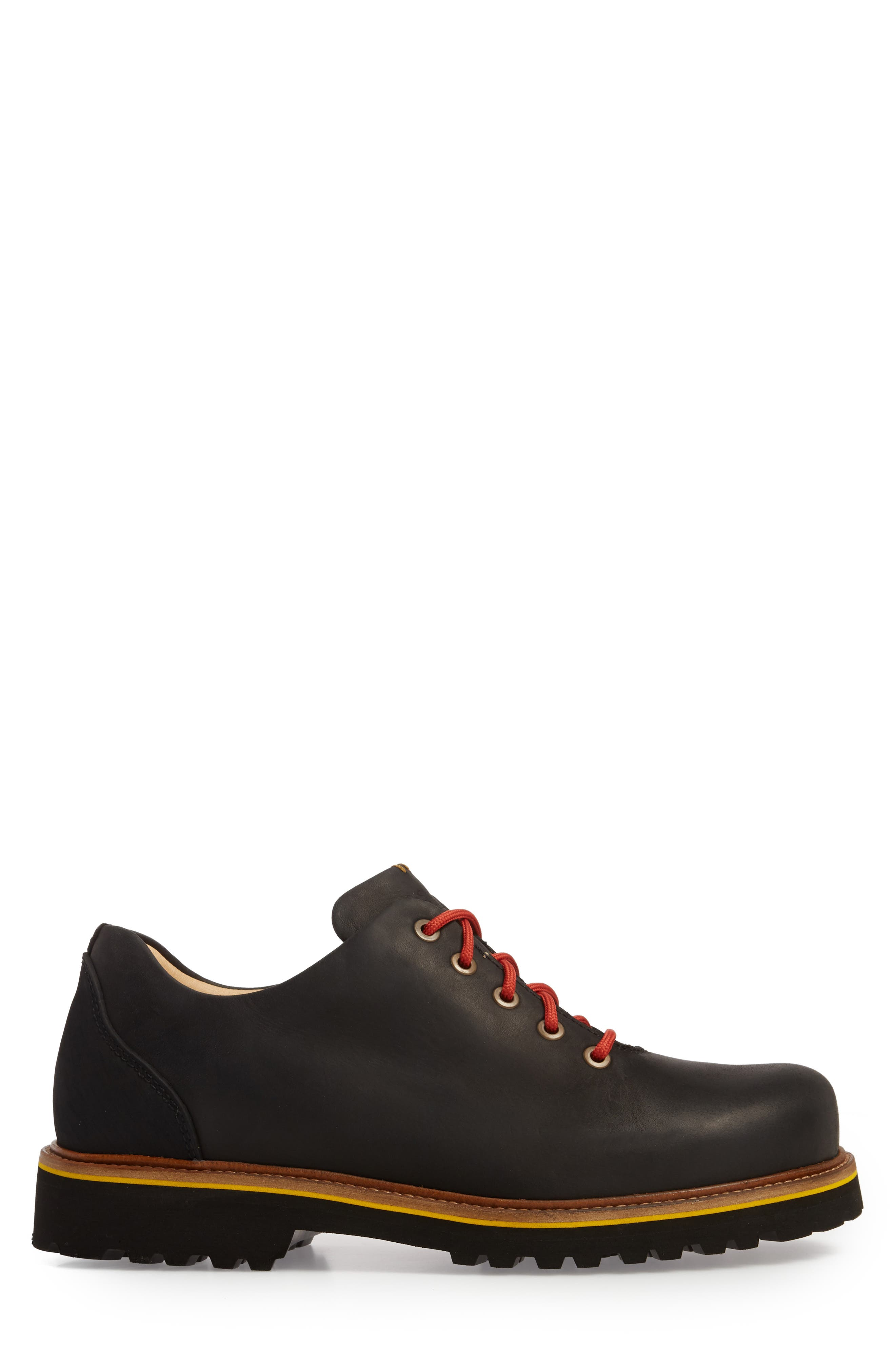 Fresh Plain Toe Oxford,                             Alternate thumbnail 3, color,                             BLACK WAXED LEATHER