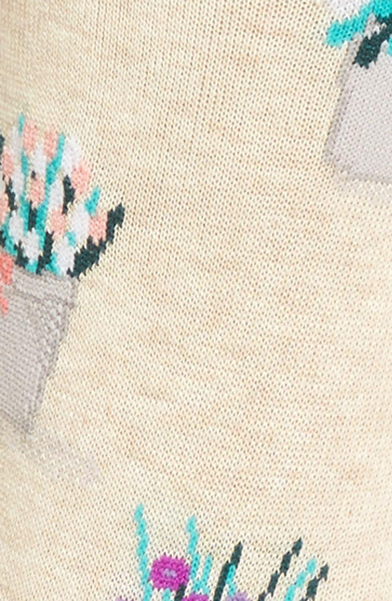 Bouquet Crew Socks,                             Alternate thumbnail 3, color,                             257