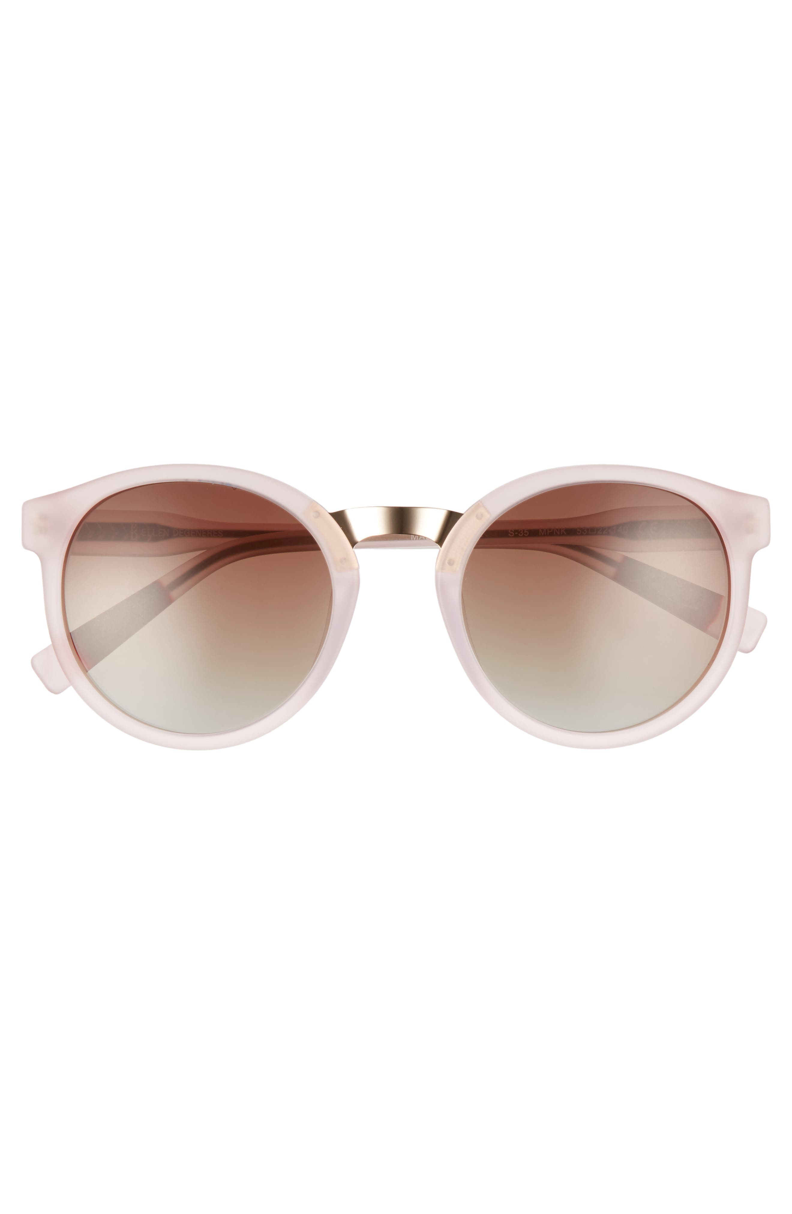 53mm Round Sunglasses,                             Alternate thumbnail 12, color,