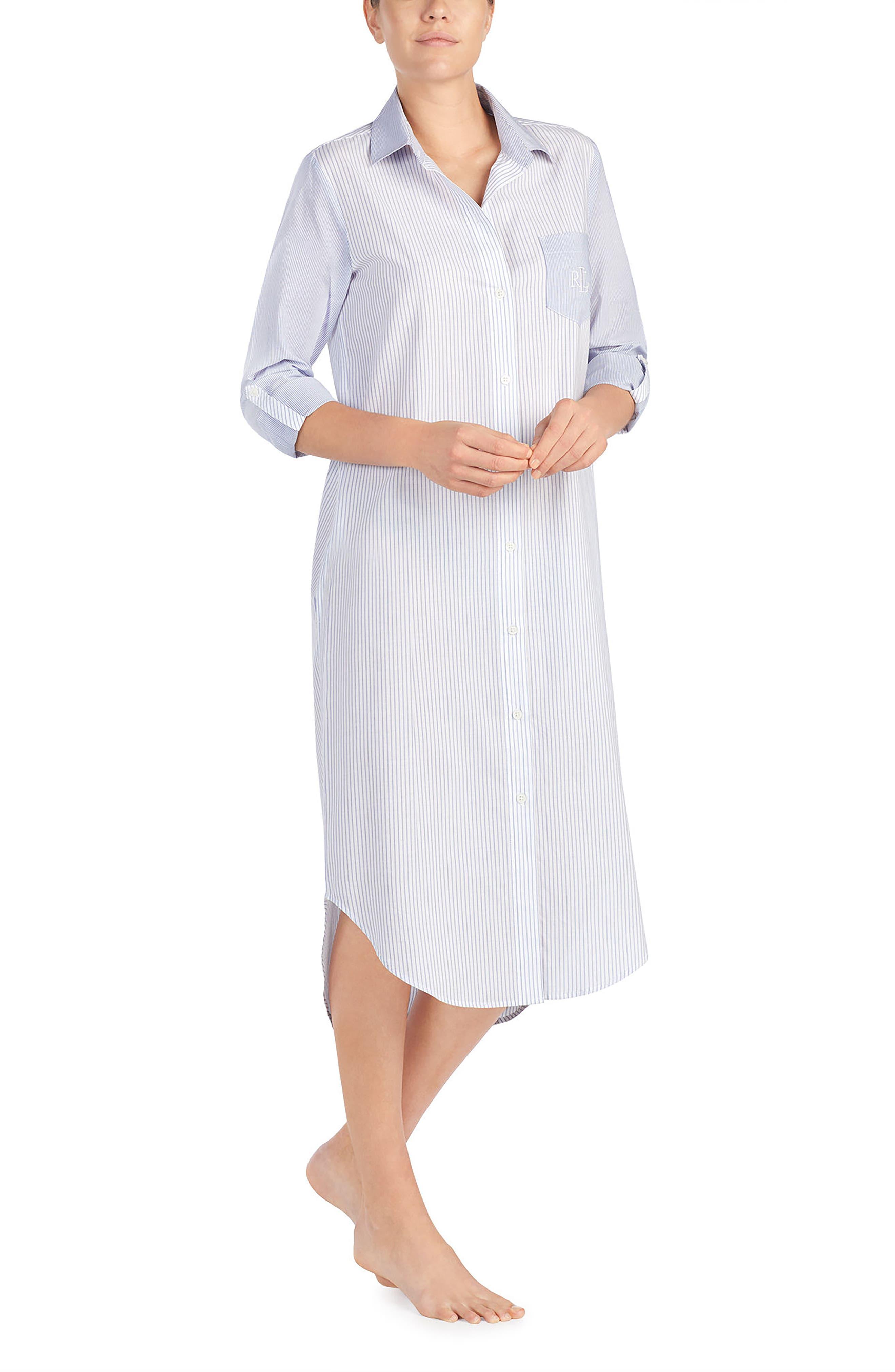 Sleep Shirt,                             Alternate thumbnail 3, color,                             WHITE STRIPE