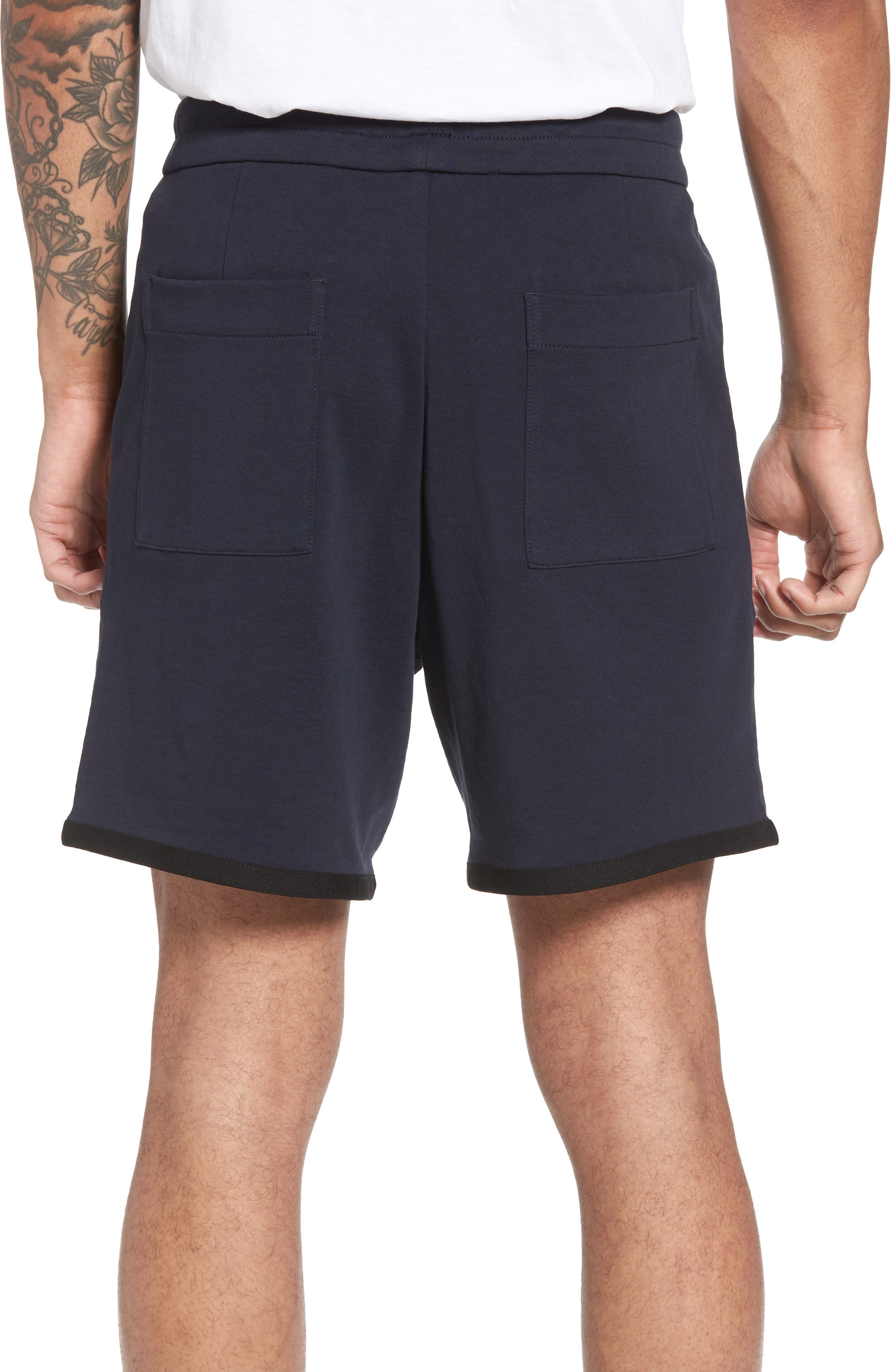 Taped Slim Fit Track Shorts,                             Alternate thumbnail 4, color,