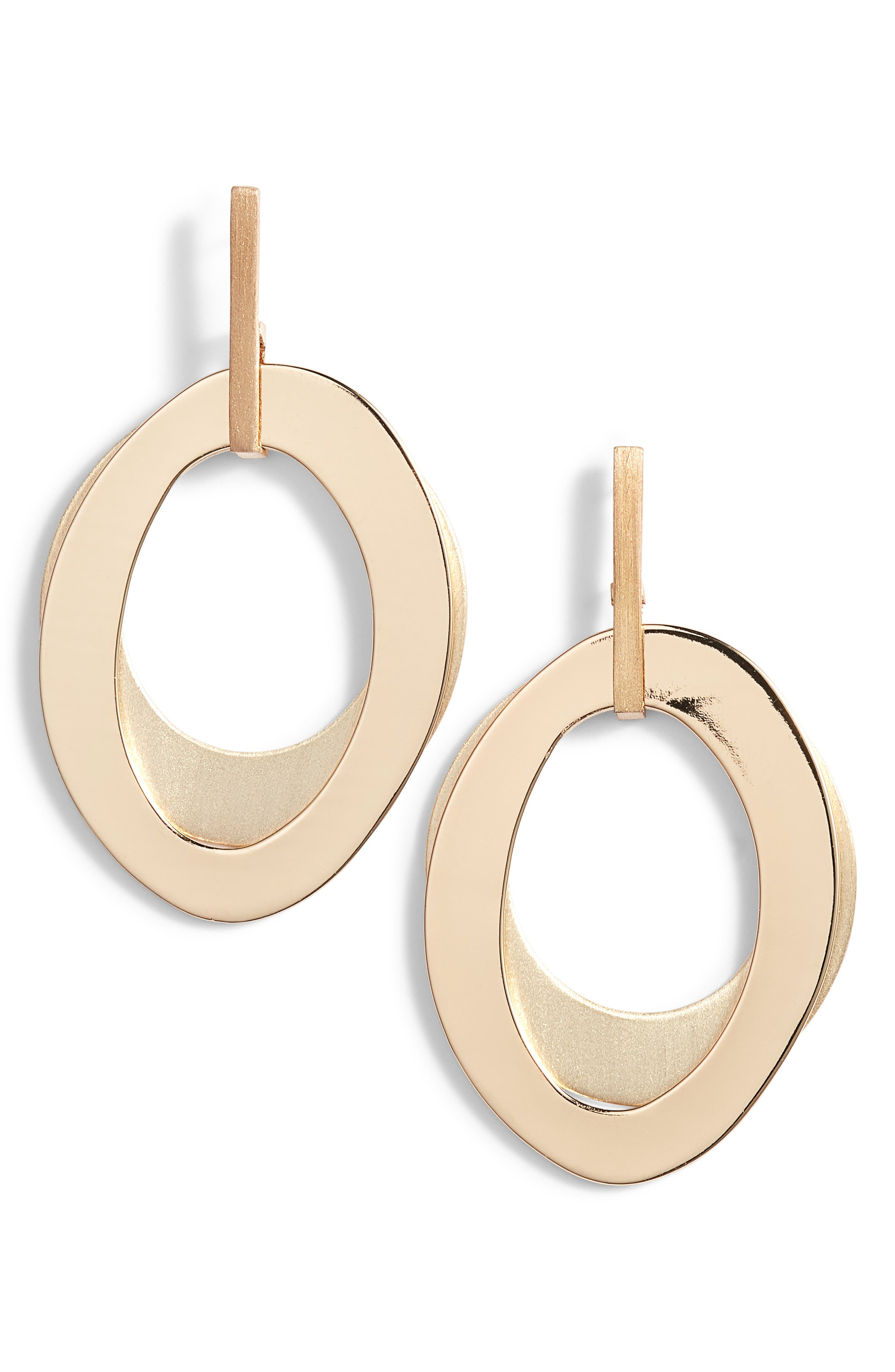 Modern Organic Layered Drop Earrings,                             Main thumbnail 1, color,                             GOLD