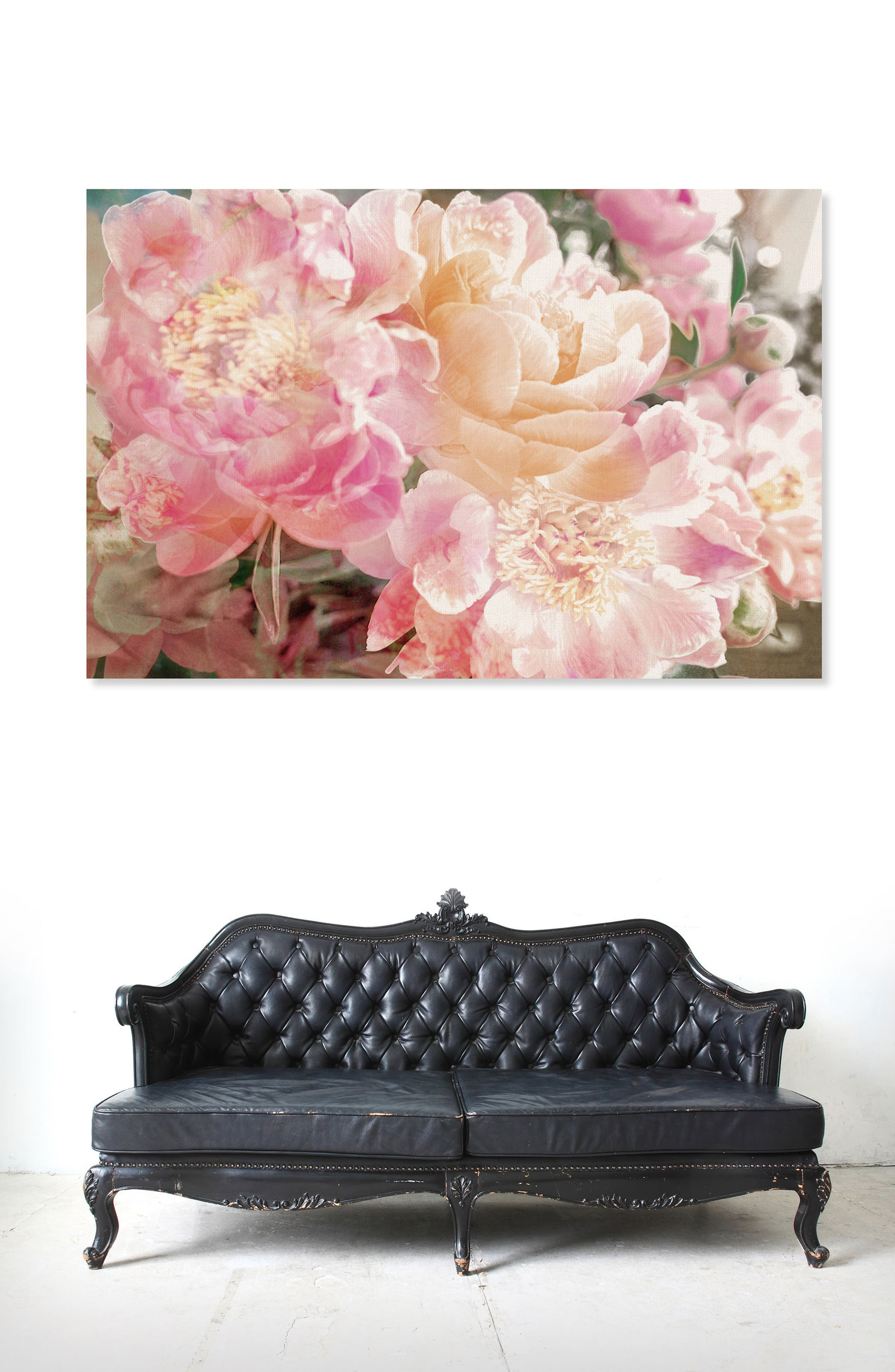 Peonies Canvas Wall Art,                             Alternate thumbnail 2, color,                             PINK