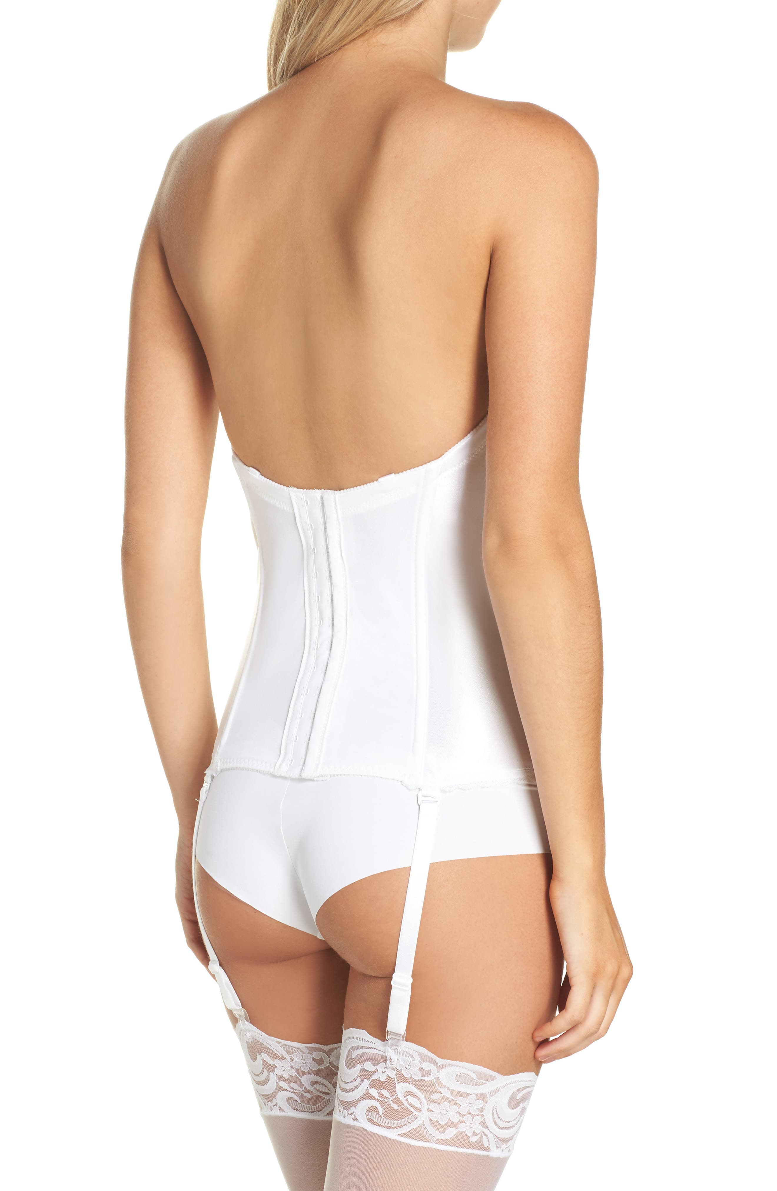 Smooth Satin Hourglass Bustier,                             Alternate thumbnail 3, color,