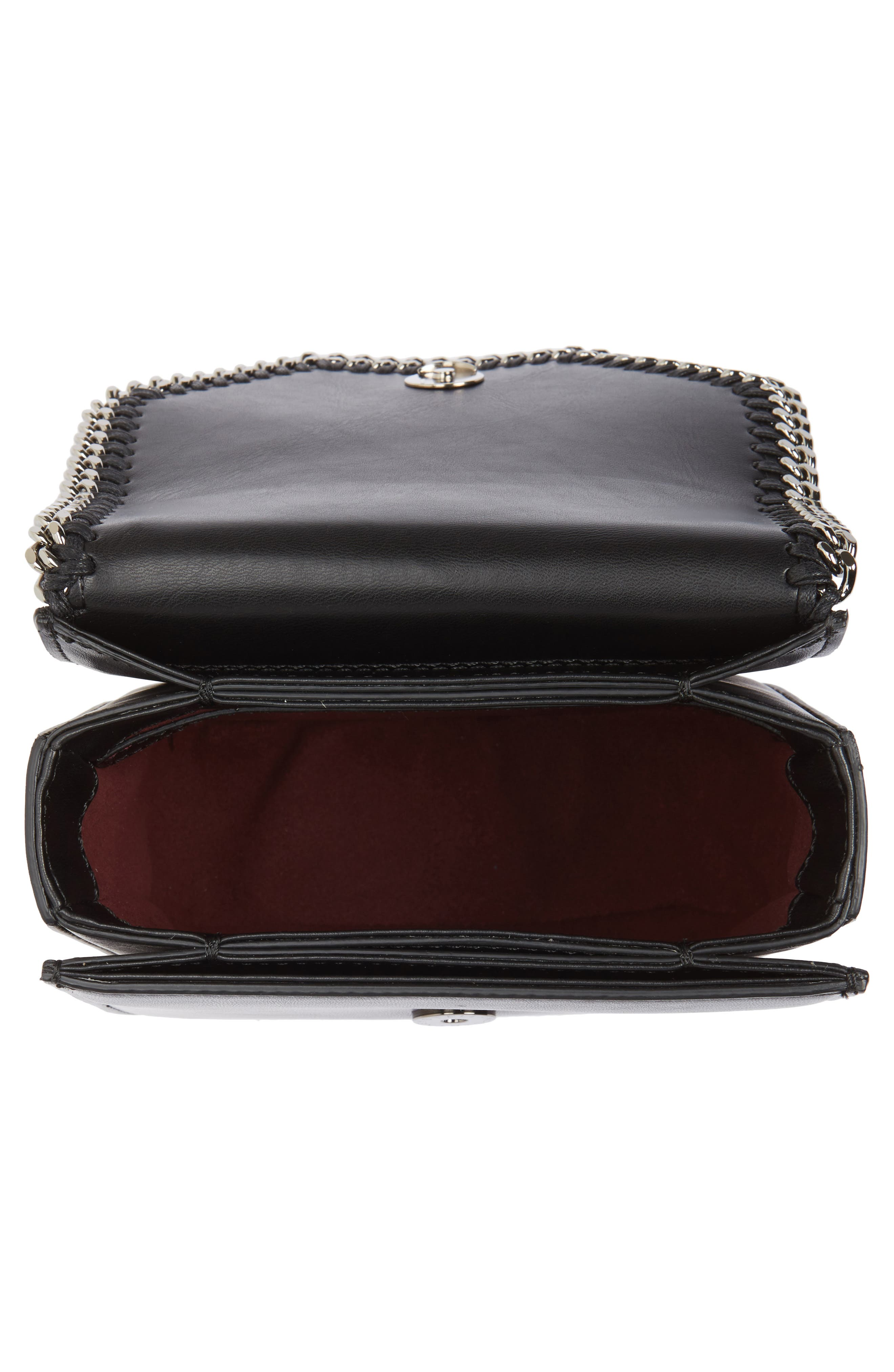 Small Falabella Box Alter Nappa Faux Leather Crossbody Bag,                             Alternate thumbnail 4, color,                             BLACK