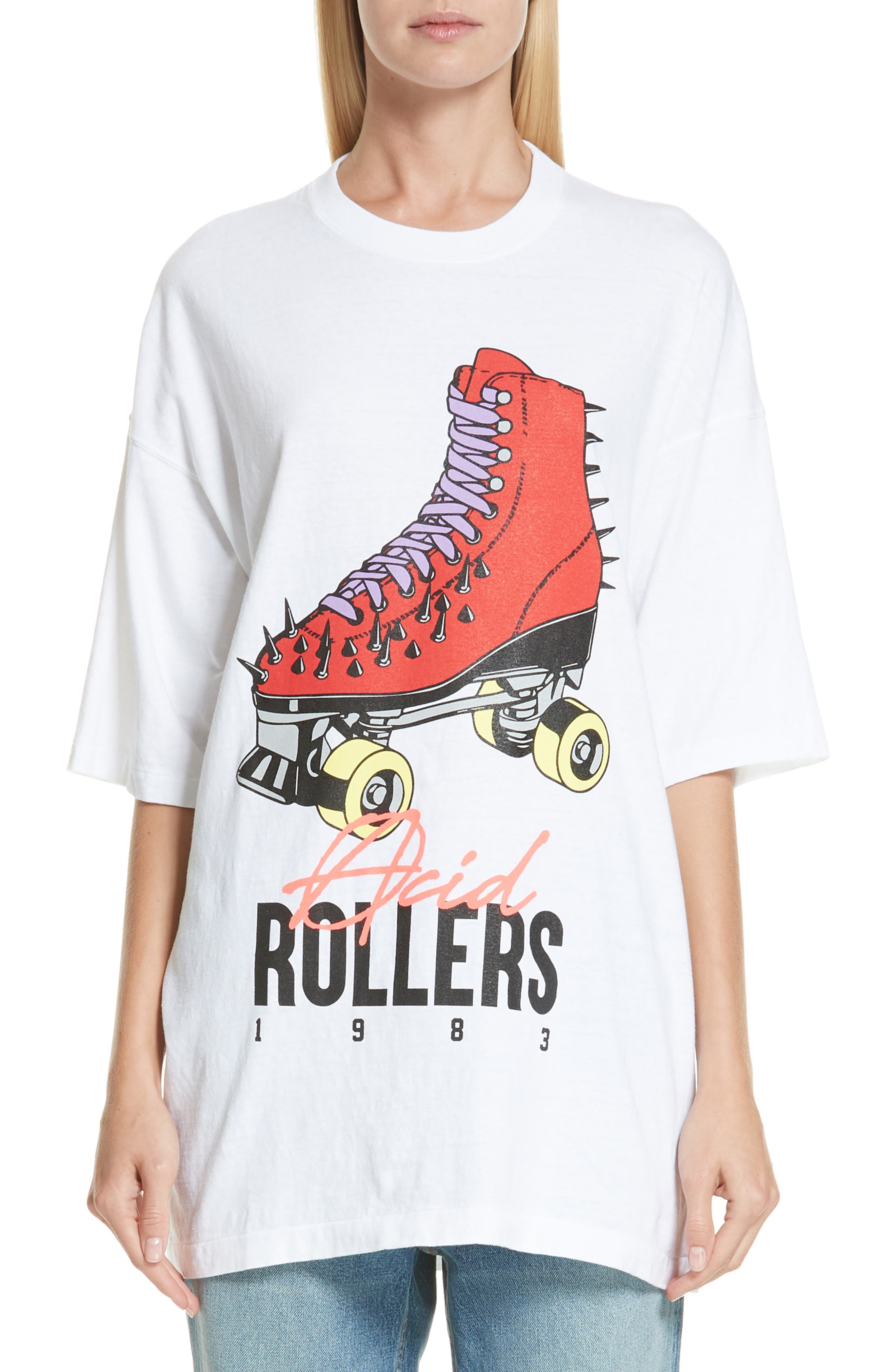 Acid Rollers Tee,                         Main,                         color, A WHITE