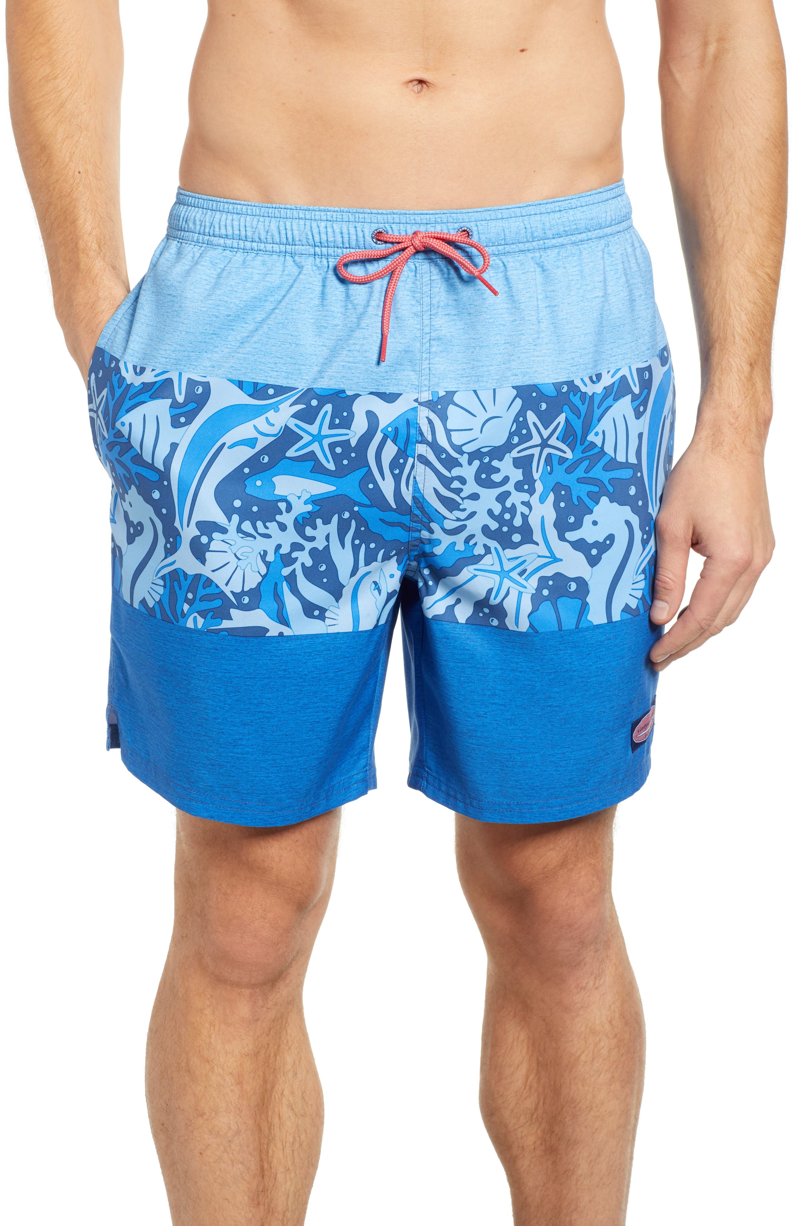 Under the Water Chappy Swim Trunks, Main, color, MOONSHINE