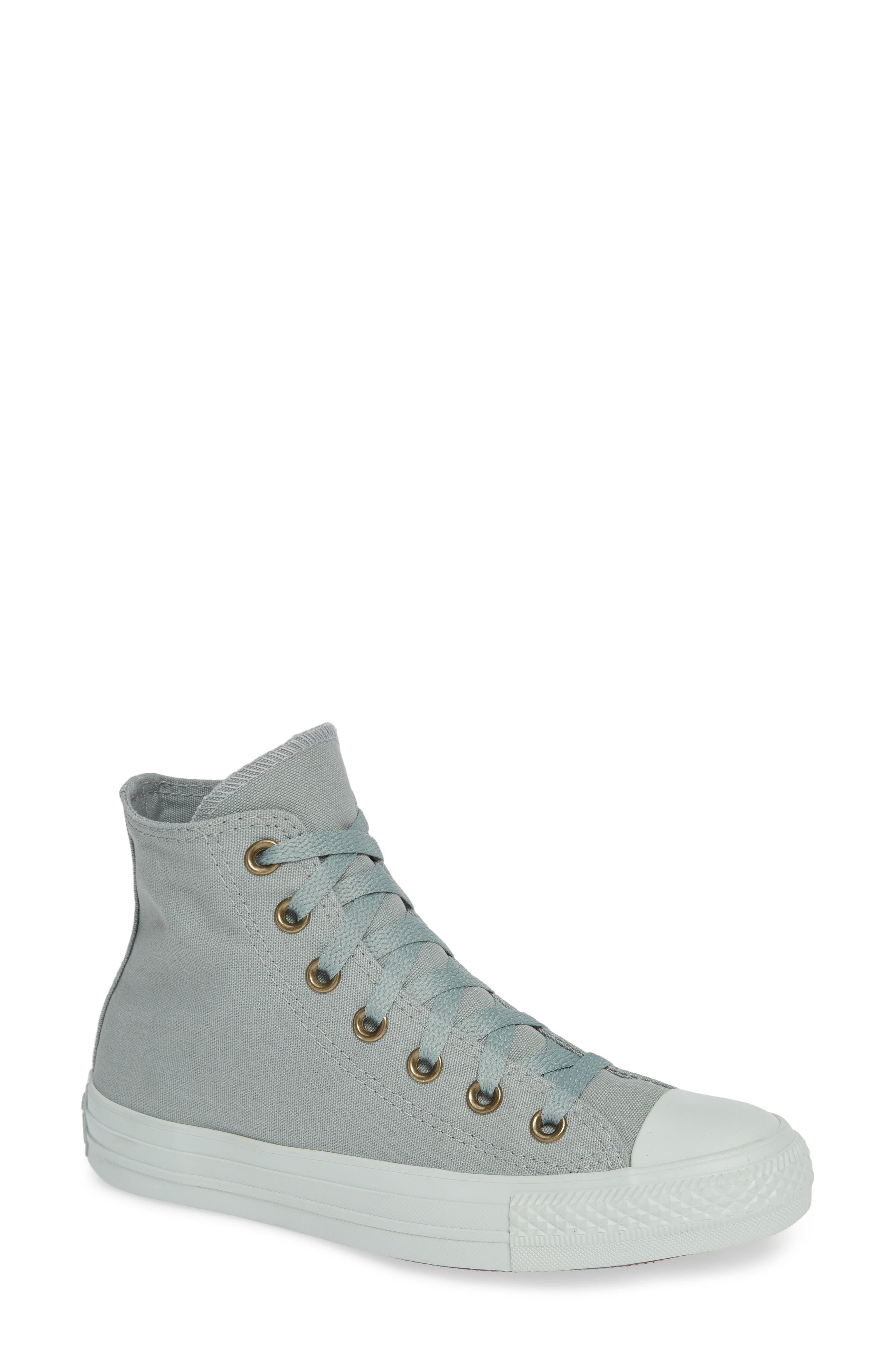 Chuck Taylor<sup>®</sup> All Star<sup>®</sup> Botanical High Top Sneaker,                             Main thumbnail 1, color,                             MICA GREEN