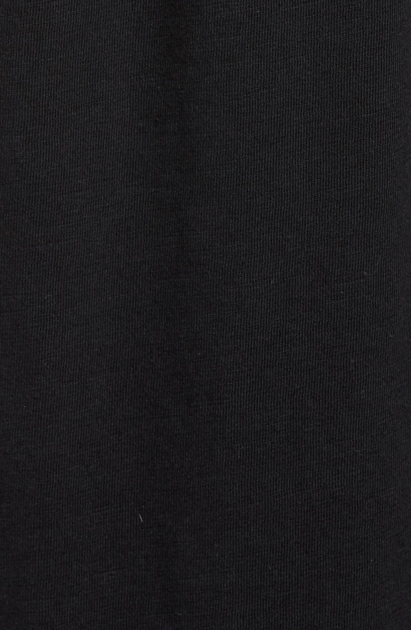 Tie Front Cotton Maxi Skirt,                             Alternate thumbnail 5, color,                             001
