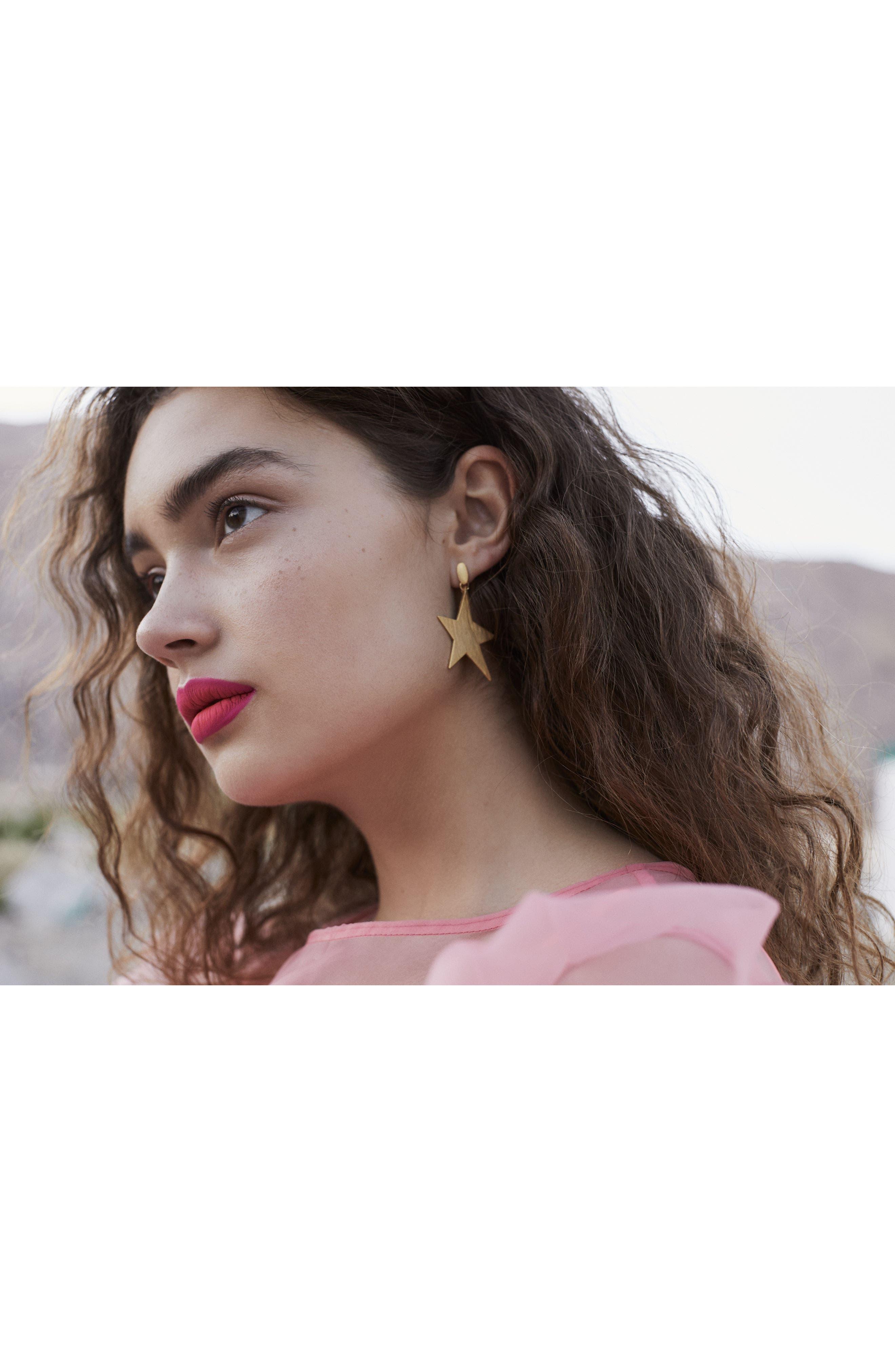 Star Girl Drama Drop Earrings,                             Alternate thumbnail 4, color,