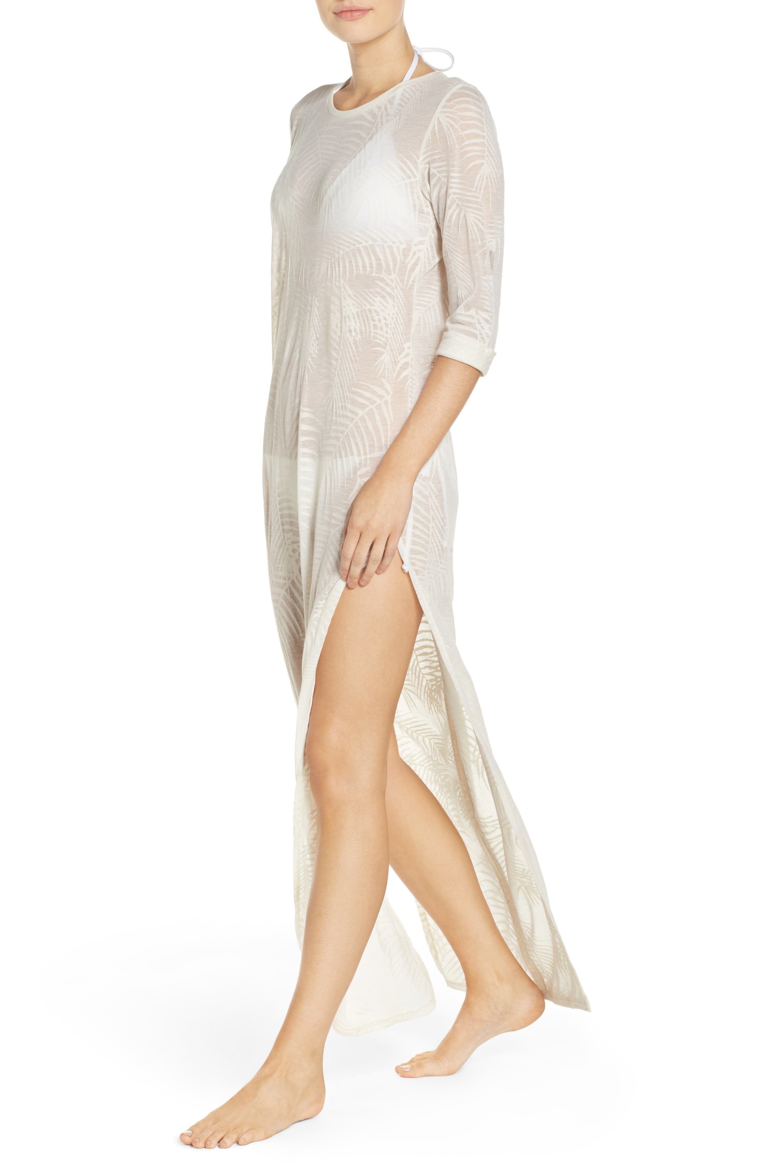 Finley Cover-Up Maxi Dress,                             Alternate thumbnail 4, color,                             100