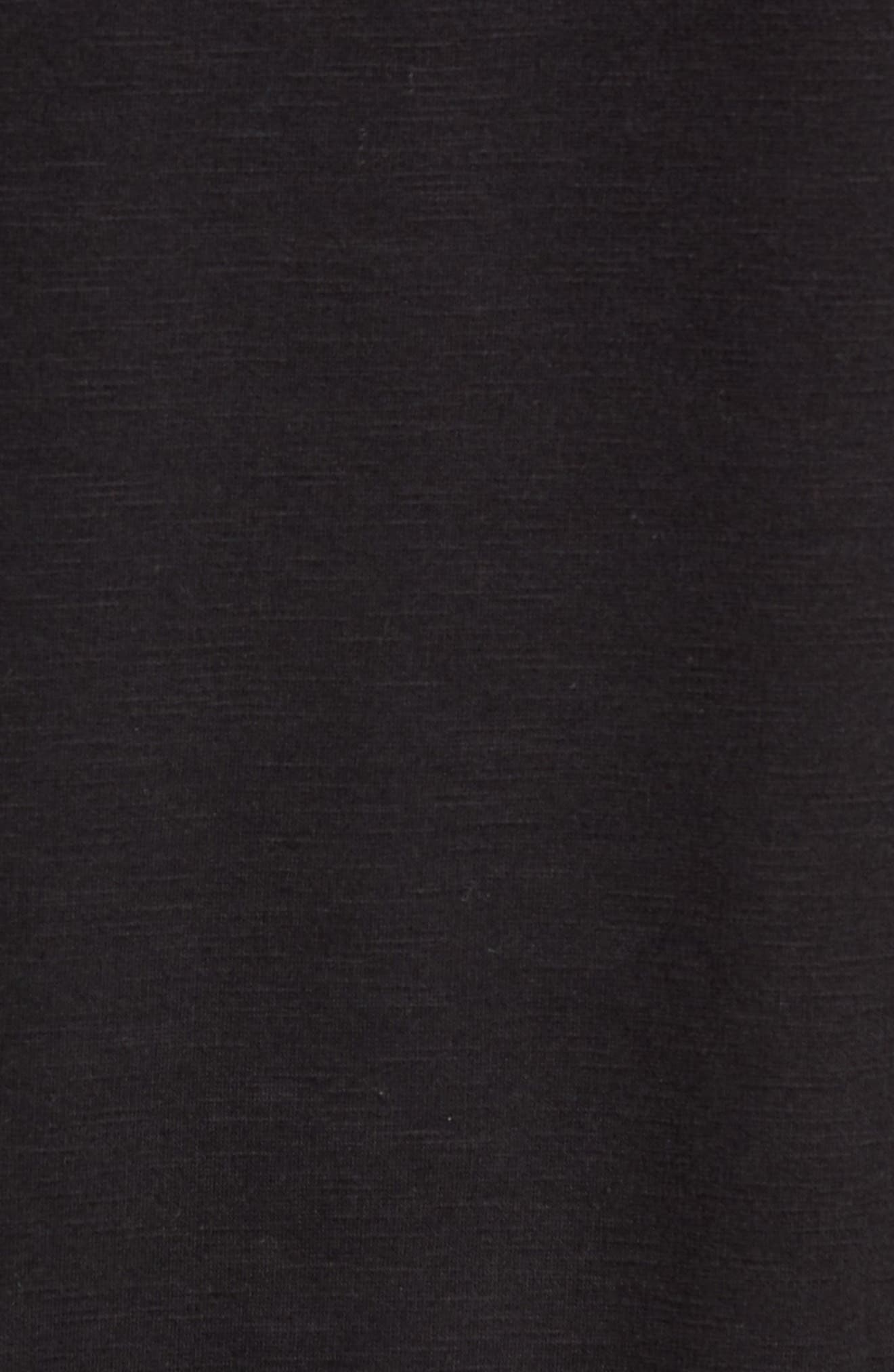French Terry Moto Pullover,                             Alternate thumbnail 5, color,                             BLACK HEATHER