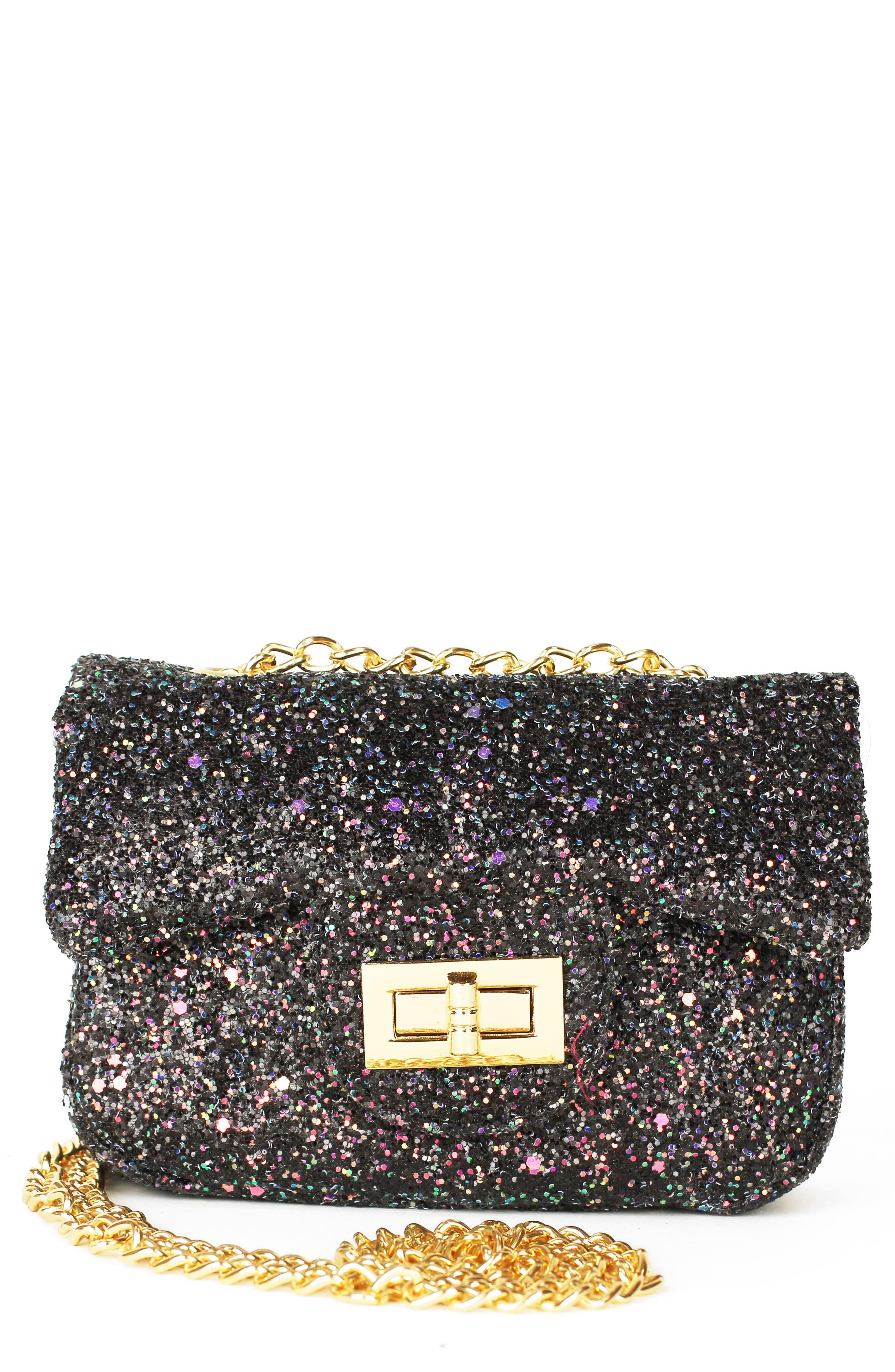 Girls Popatu Glitter Crossbody Bag