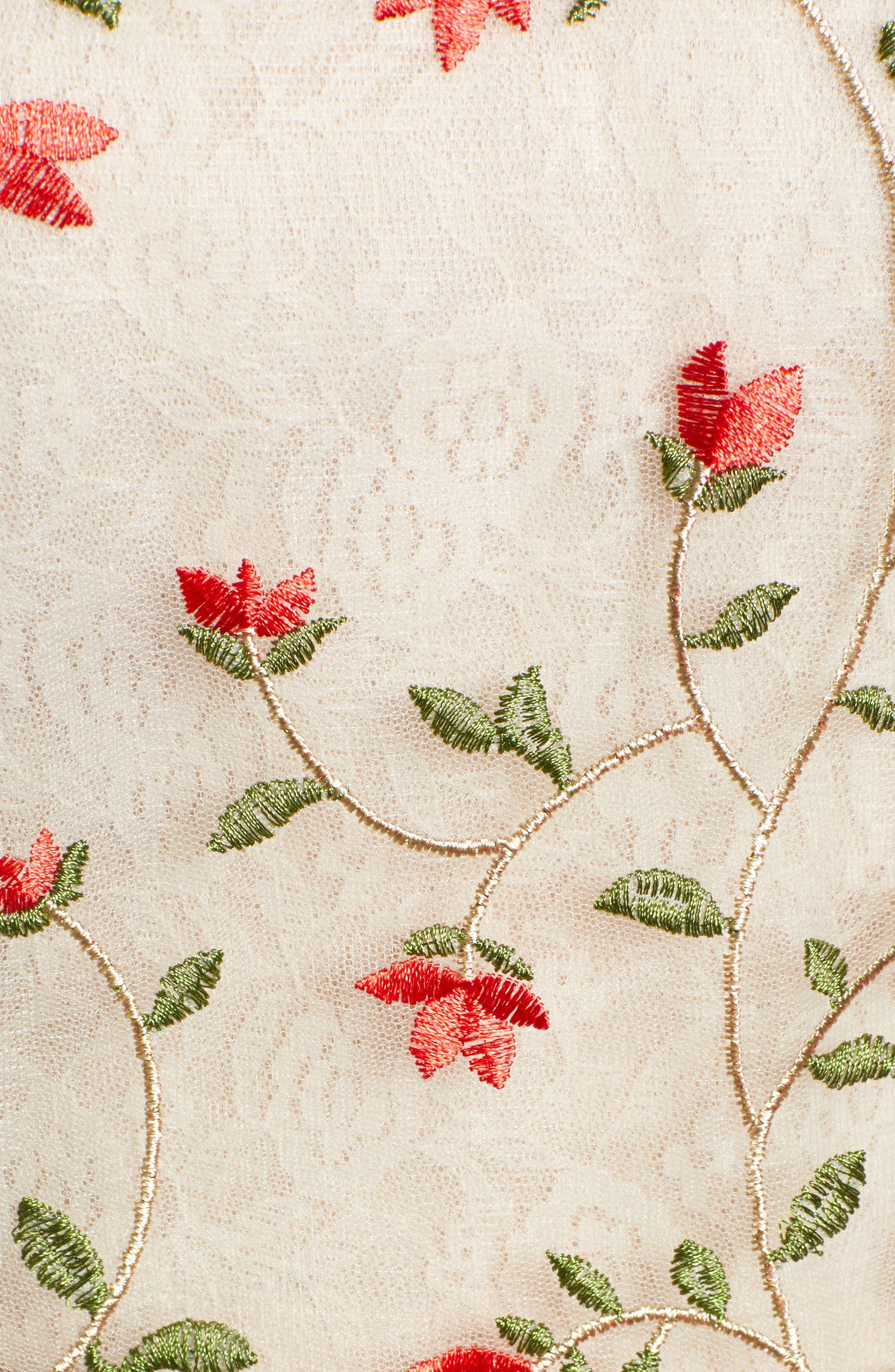 Floral Mesh Top,                             Alternate thumbnail 5, color,                             MULTI