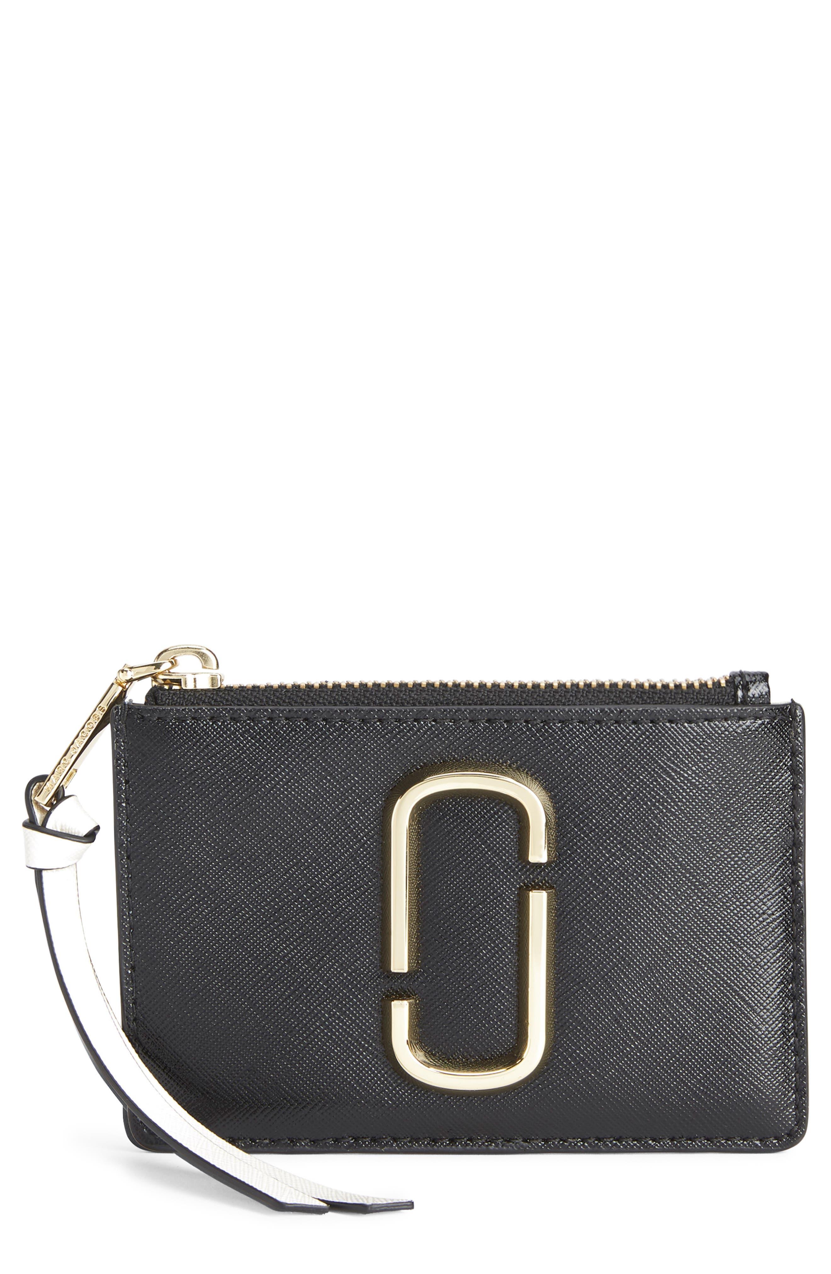 Snapshot Small Leather Wallet,                             Main thumbnail 1, color,                             BLACK MULTI