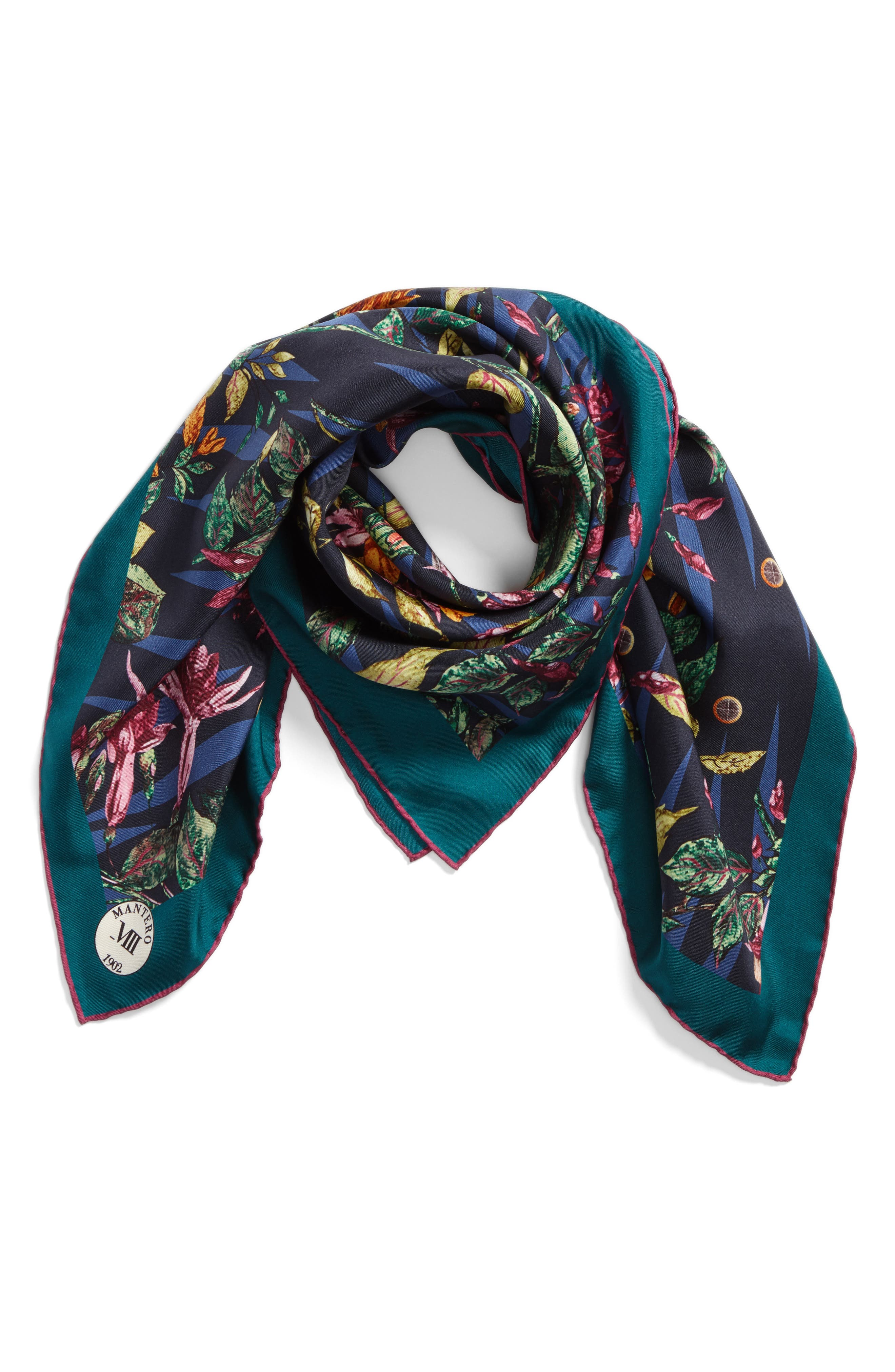Tra le Righe Square Silk Scarf,                             Alternate thumbnail 5, color,