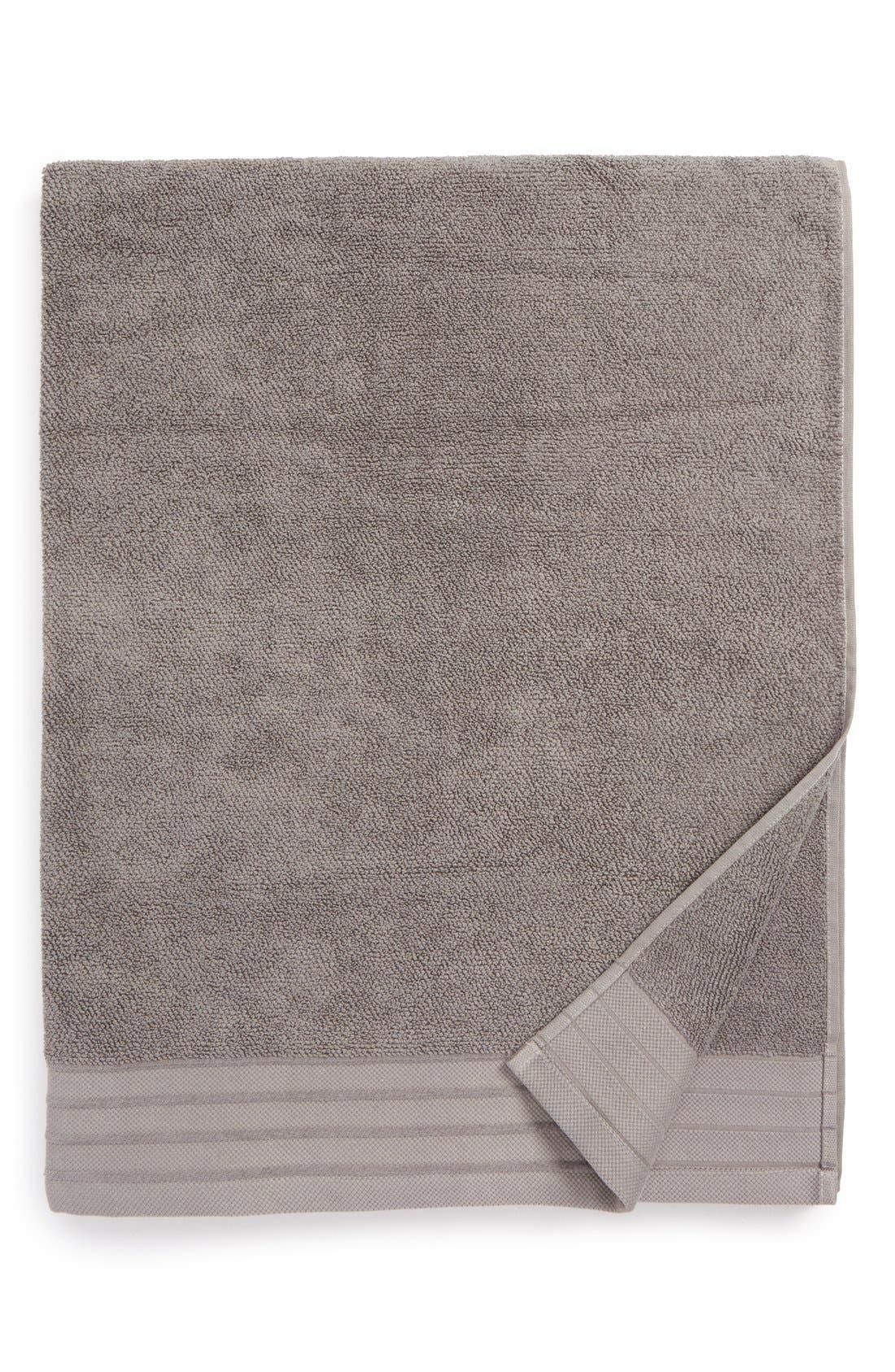 Classic Luxe Cotton Bath Sheet,                             Main thumbnail 1, color,                             GRANITE