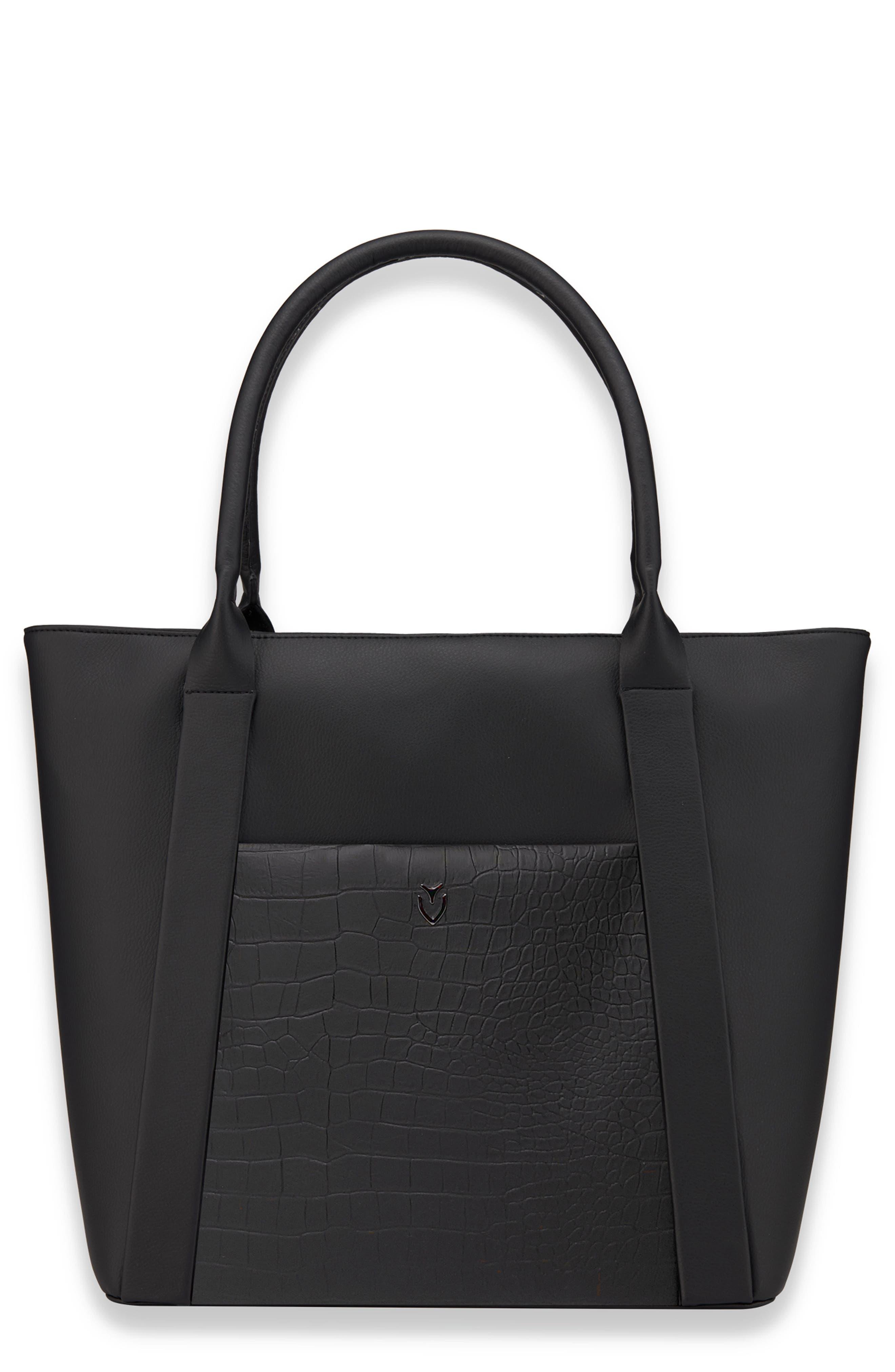 Signature 2.0 Large Faux Leather Tote Bag,                         Main,                         color, 001