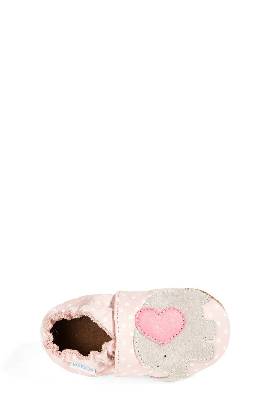 'Little Peanut' Crib Shoe,                             Alternate thumbnail 3, color,                             PASTEL PINK