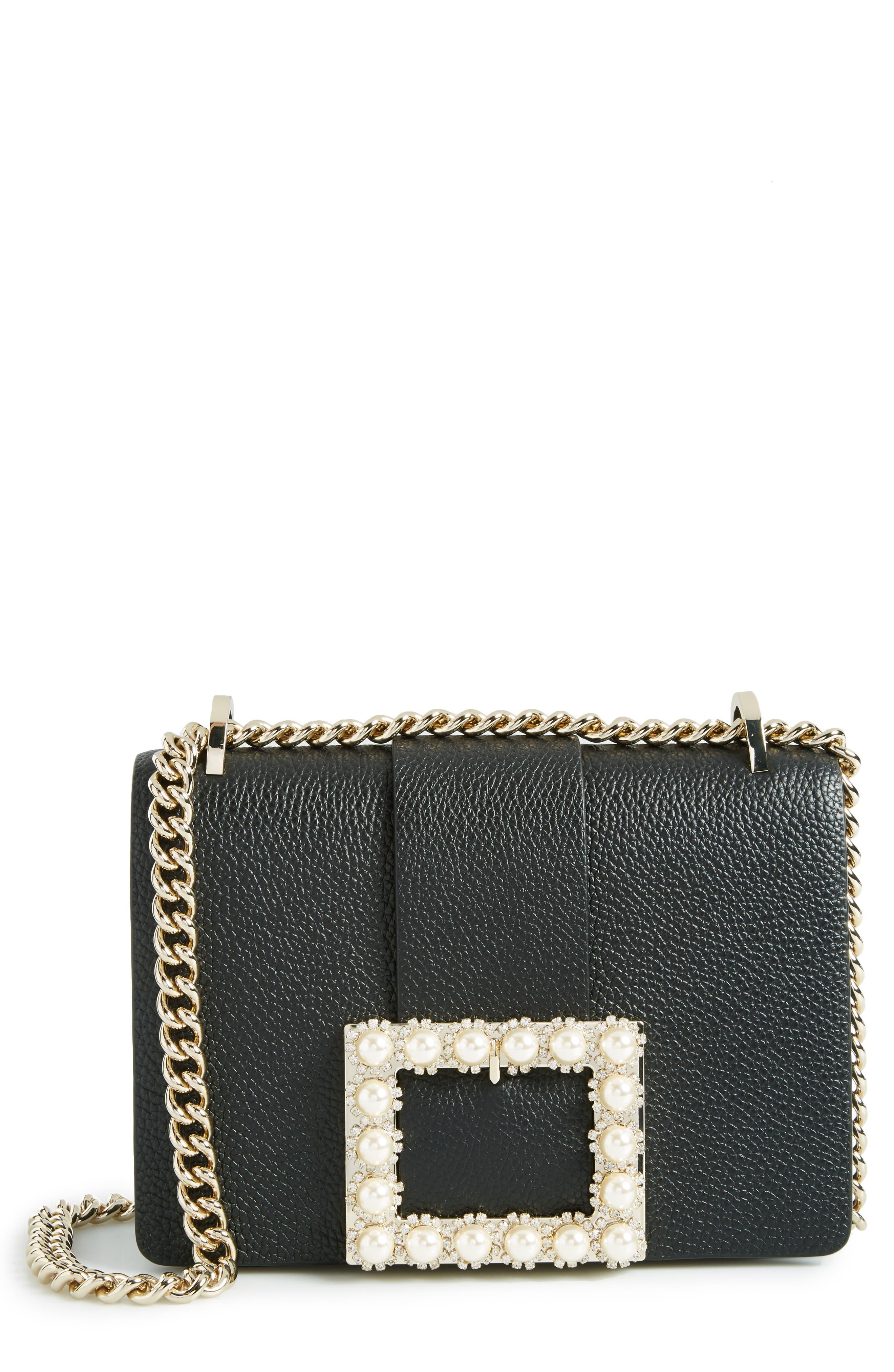 madison knollwood drive - buckle marci leather shoulder bag,                             Main thumbnail 1, color,                             001