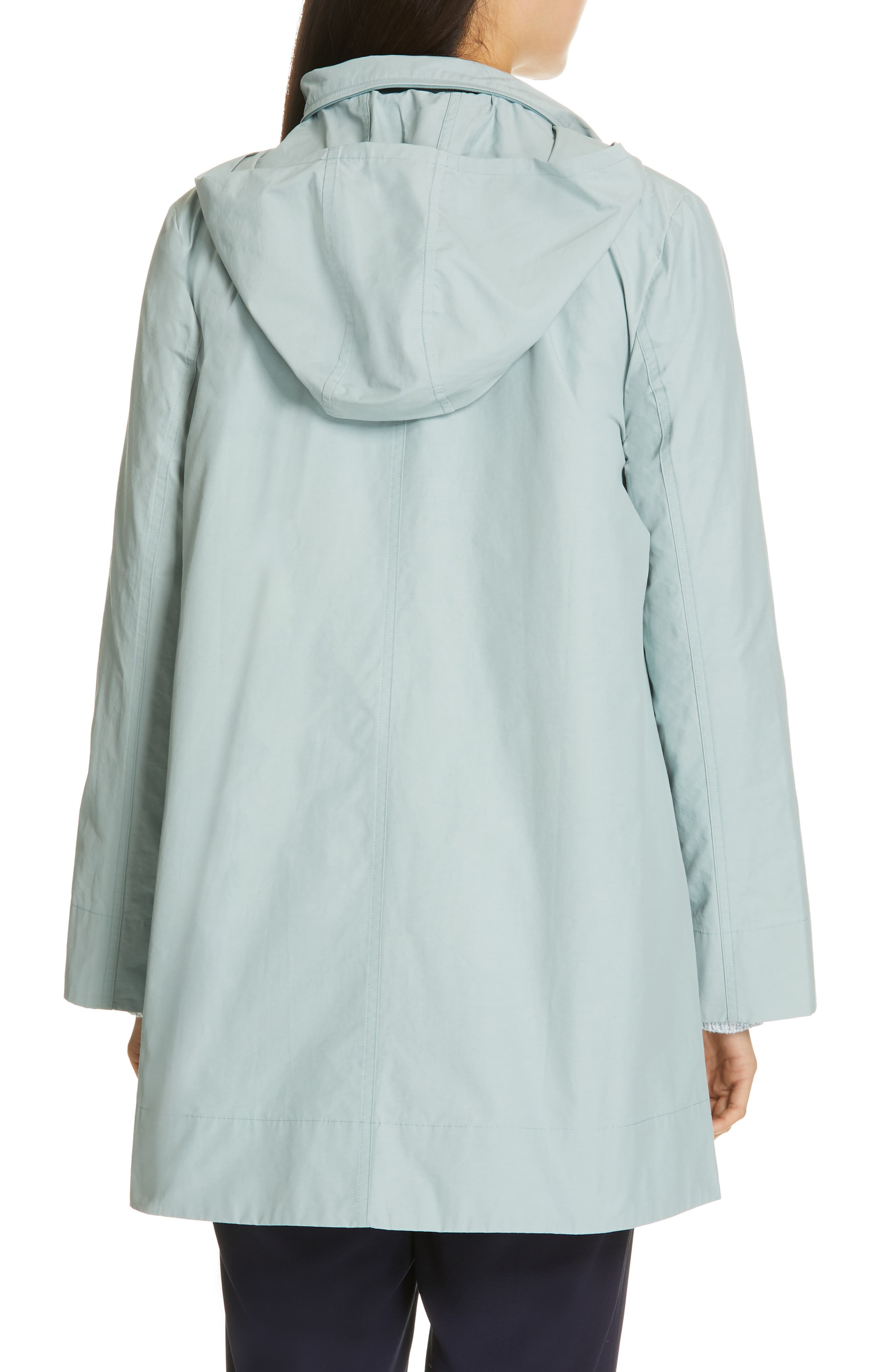EILEEN FISHER,                             A-Line Jacket,                             Alternate thumbnail 2, color,                             BLUE IVY