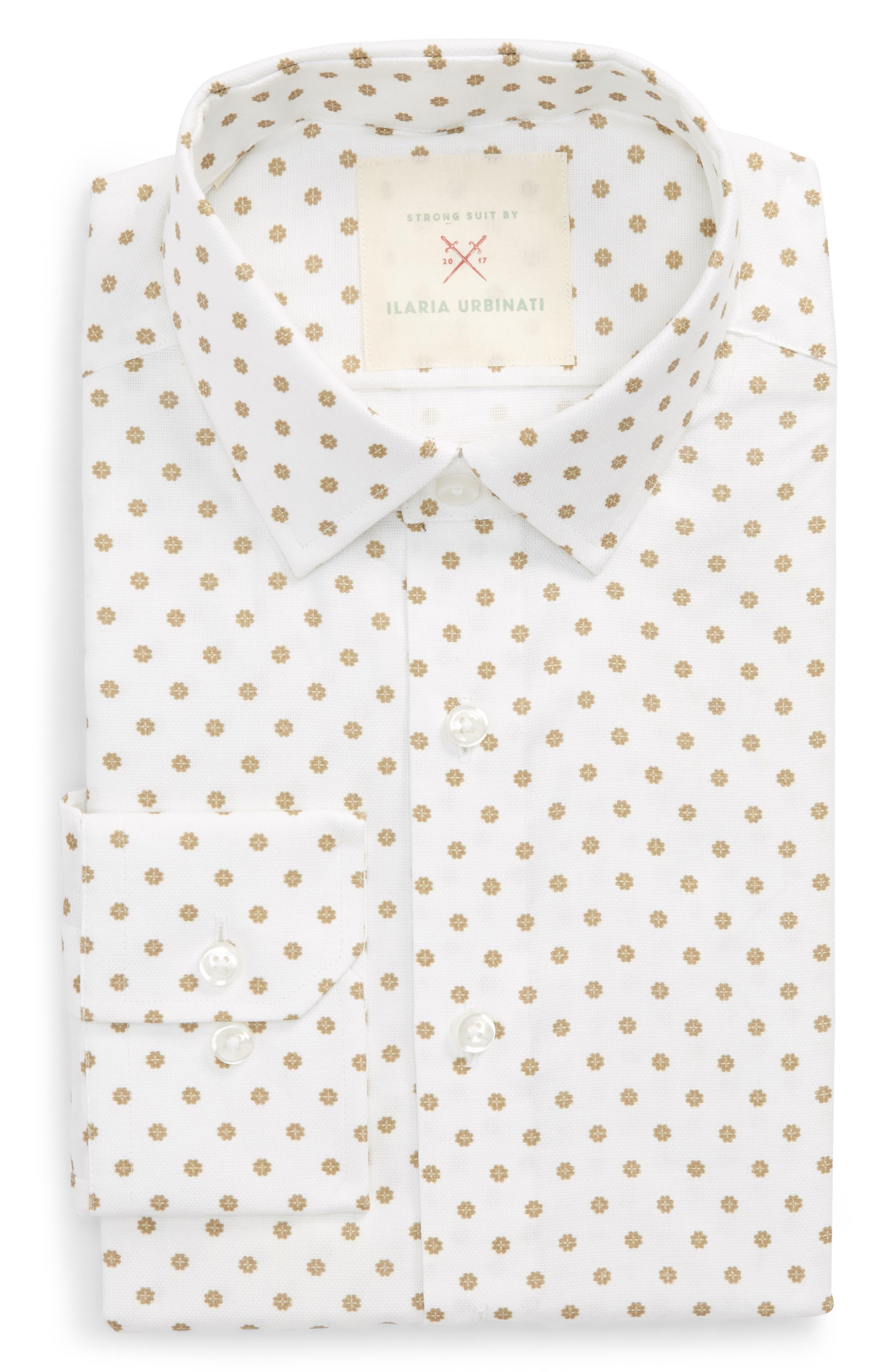 by Ilaria Urbinati Edmond Slim Fit Medallion Dress Shirt,                             Main thumbnail 1, color,                             200