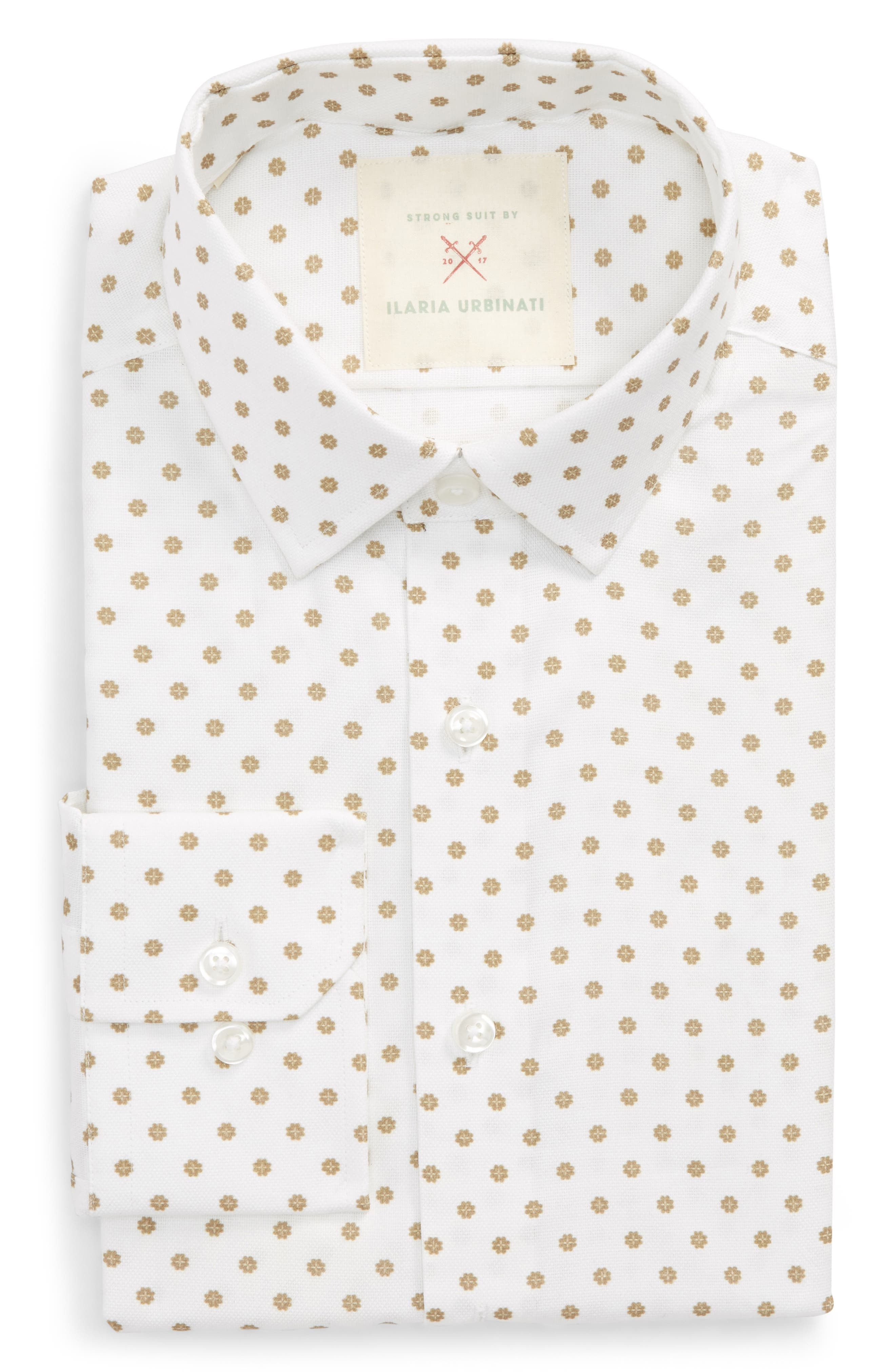 by Ilaria Urbinati Edmond Slim Fit Medallion Dress Shirt,                         Main,                         color, 200