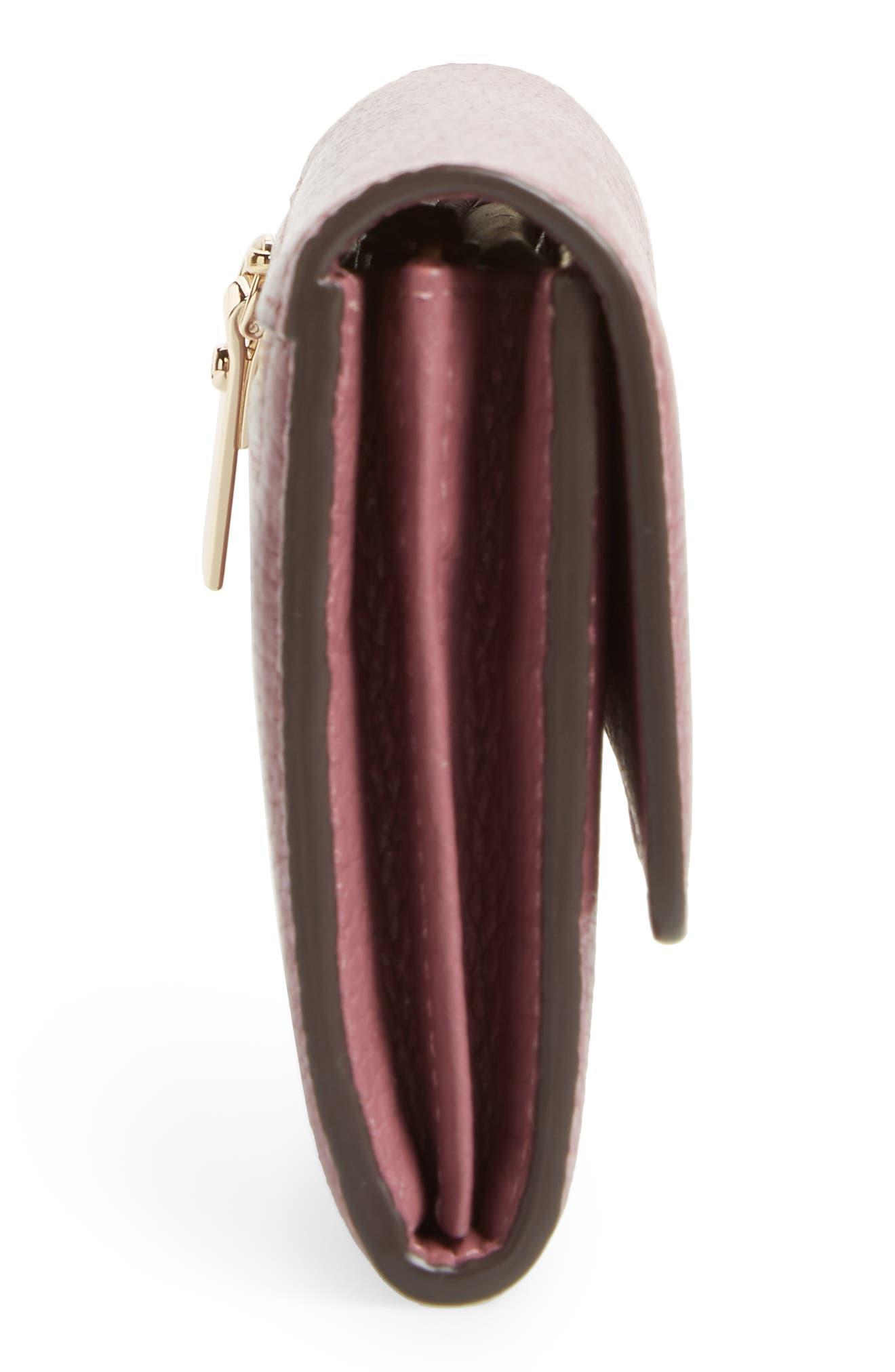 oakwood street – kinsley pebbled leather wallet,                             Alternate thumbnail 5, color,                             564