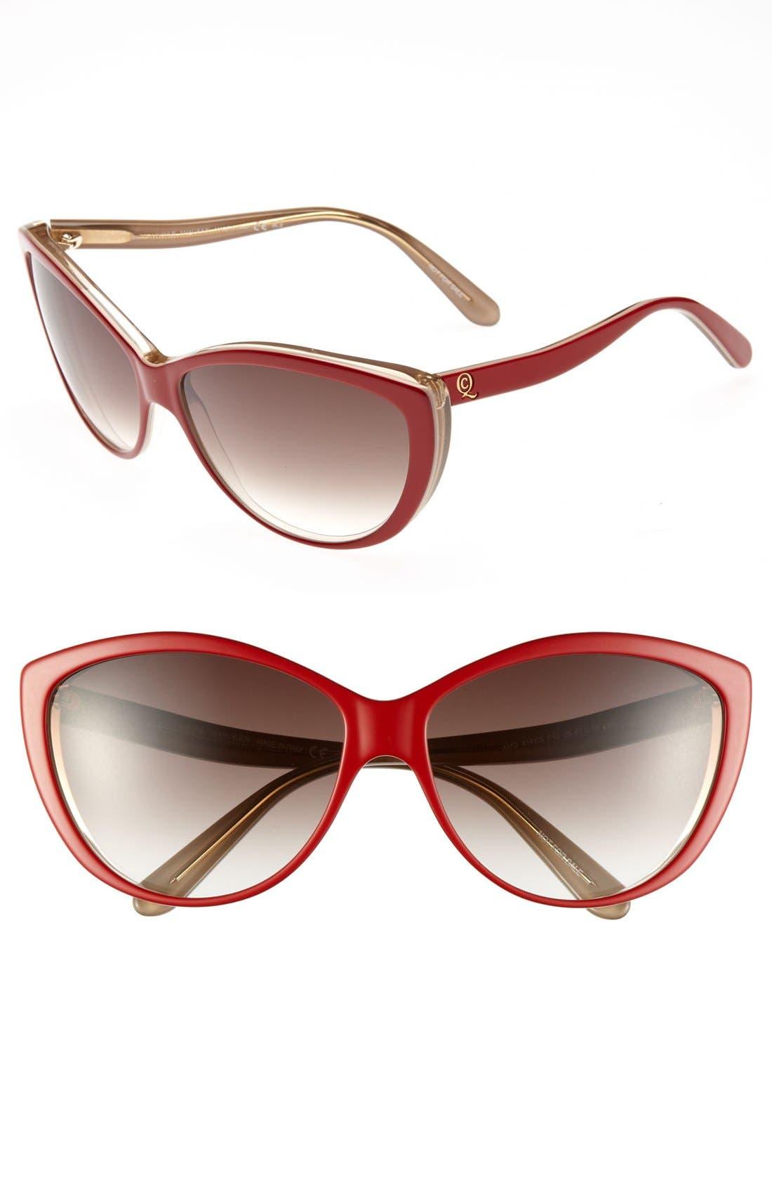 61mm Two-Tone Cat Eye Sunglasses,                             Main thumbnail 10, color,