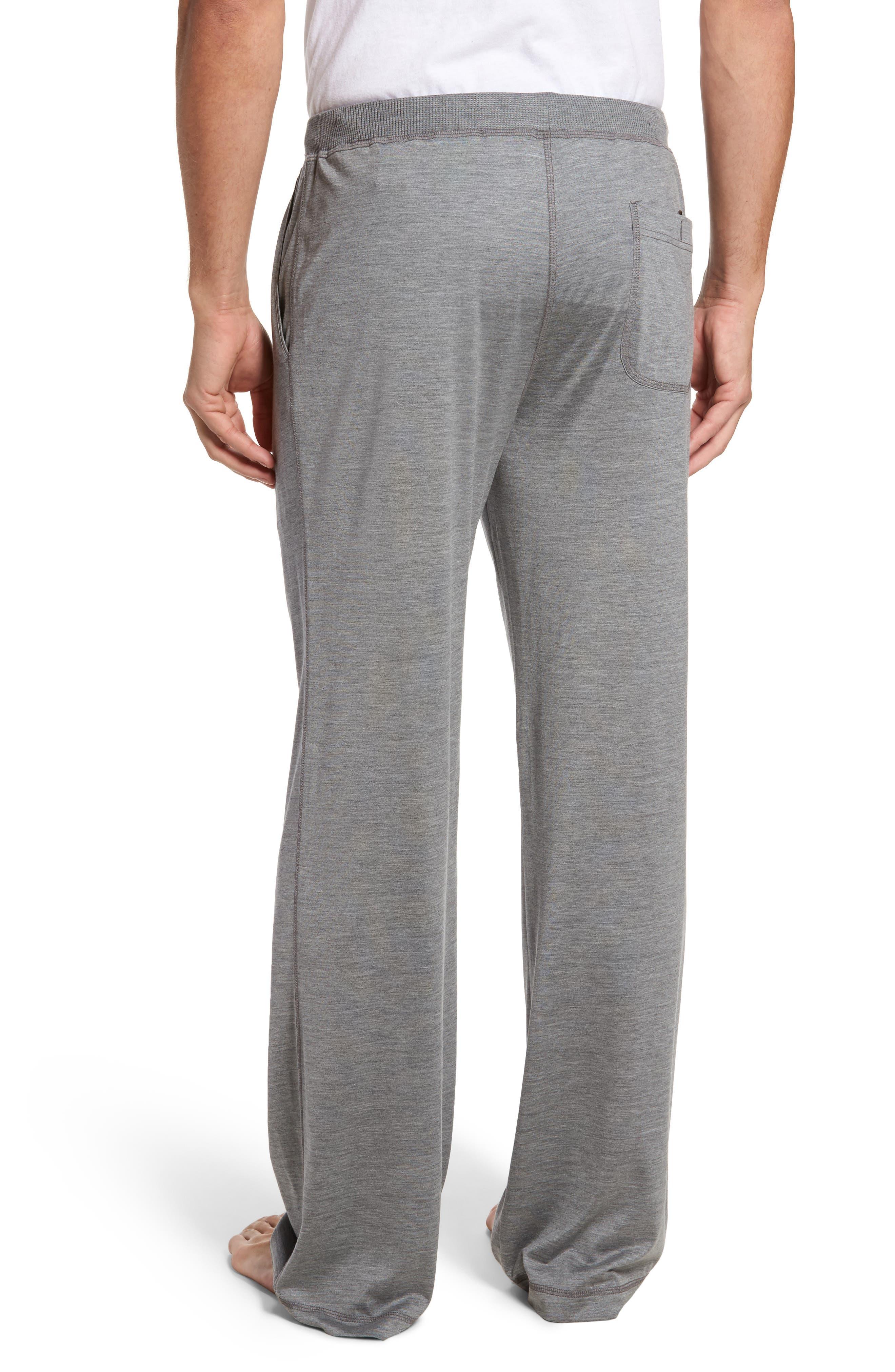 Silk & Cotton Lounge Pants,                             Alternate thumbnail 2, color,                             CHARCOAL HEATHER