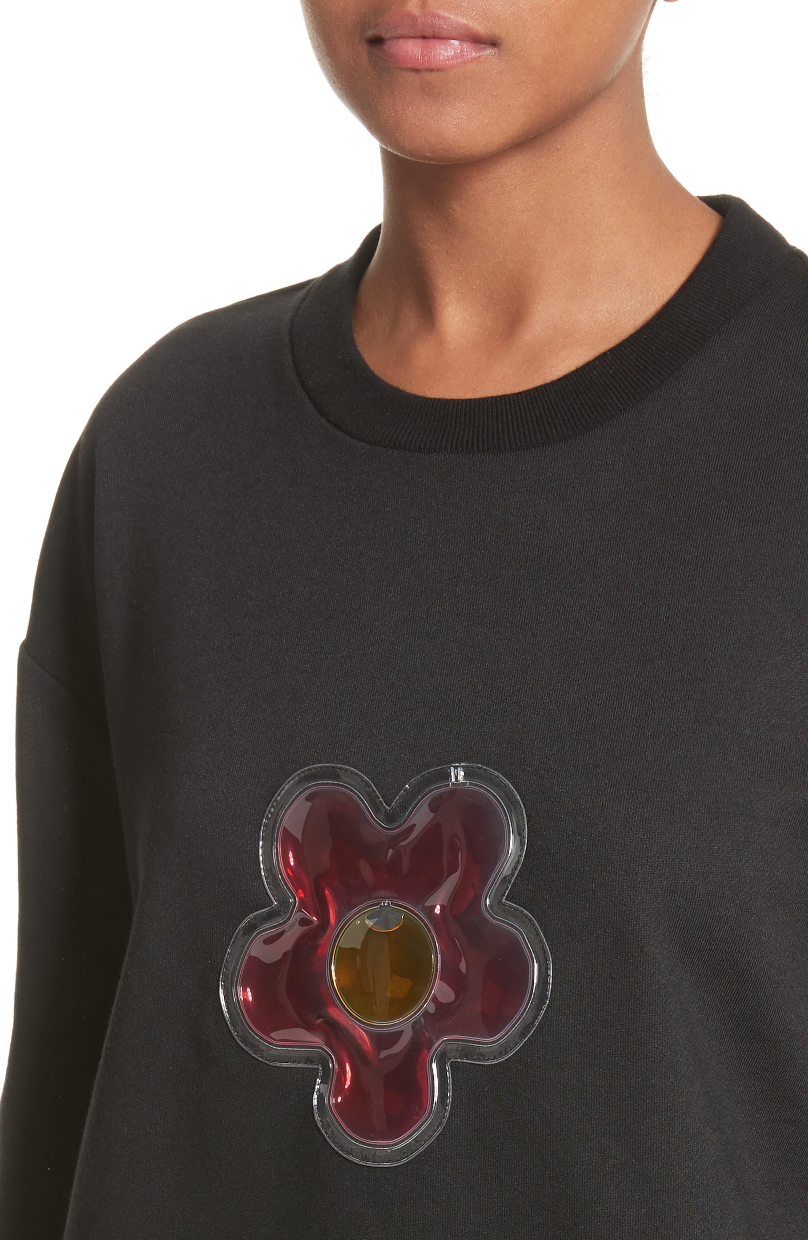 Barnacles Flower Sweatshirt,                             Alternate thumbnail 4, color,