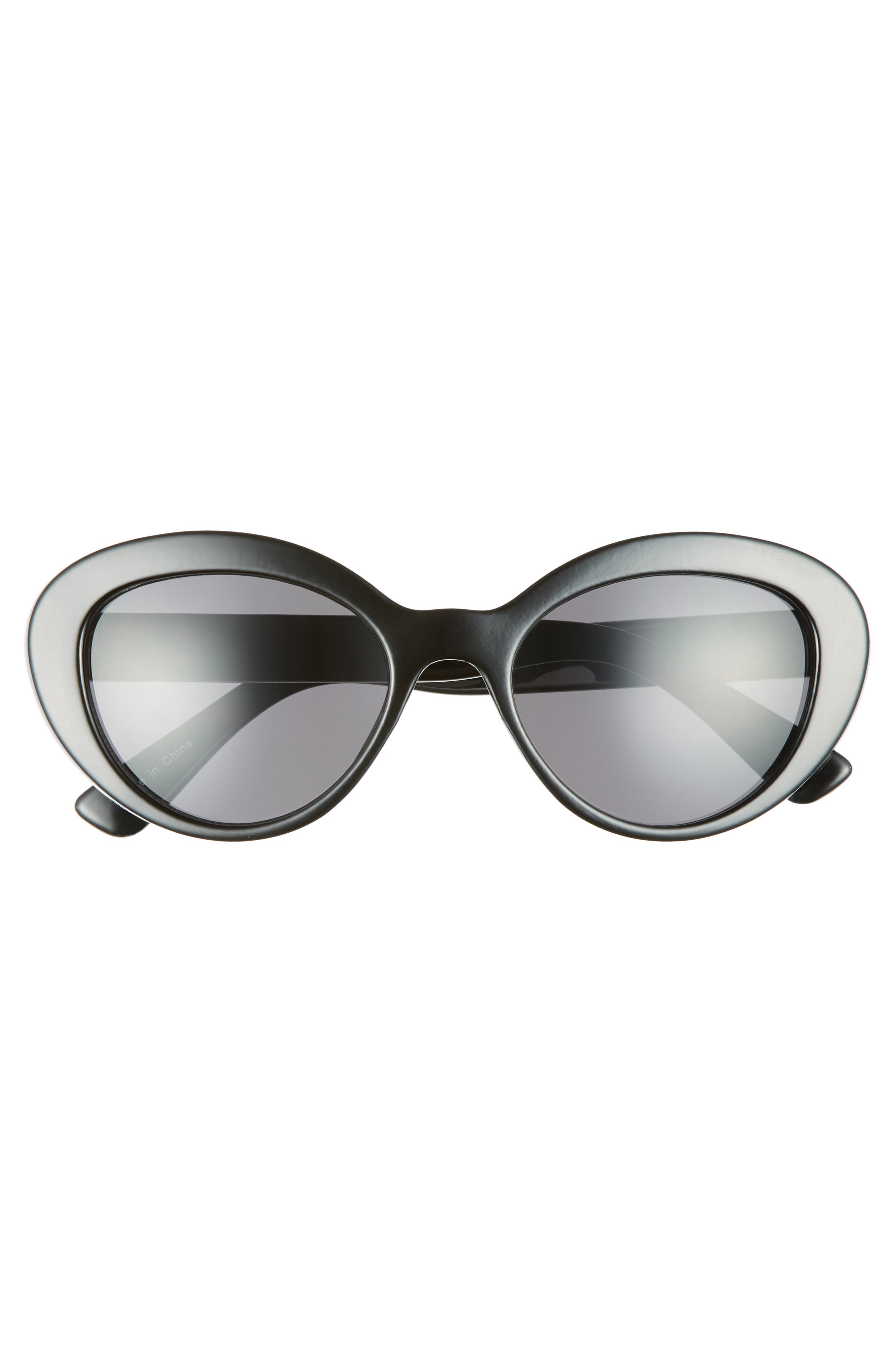 50mm Vintage Cat Eye Sunglasses,                             Alternate thumbnail 3, color,                             001