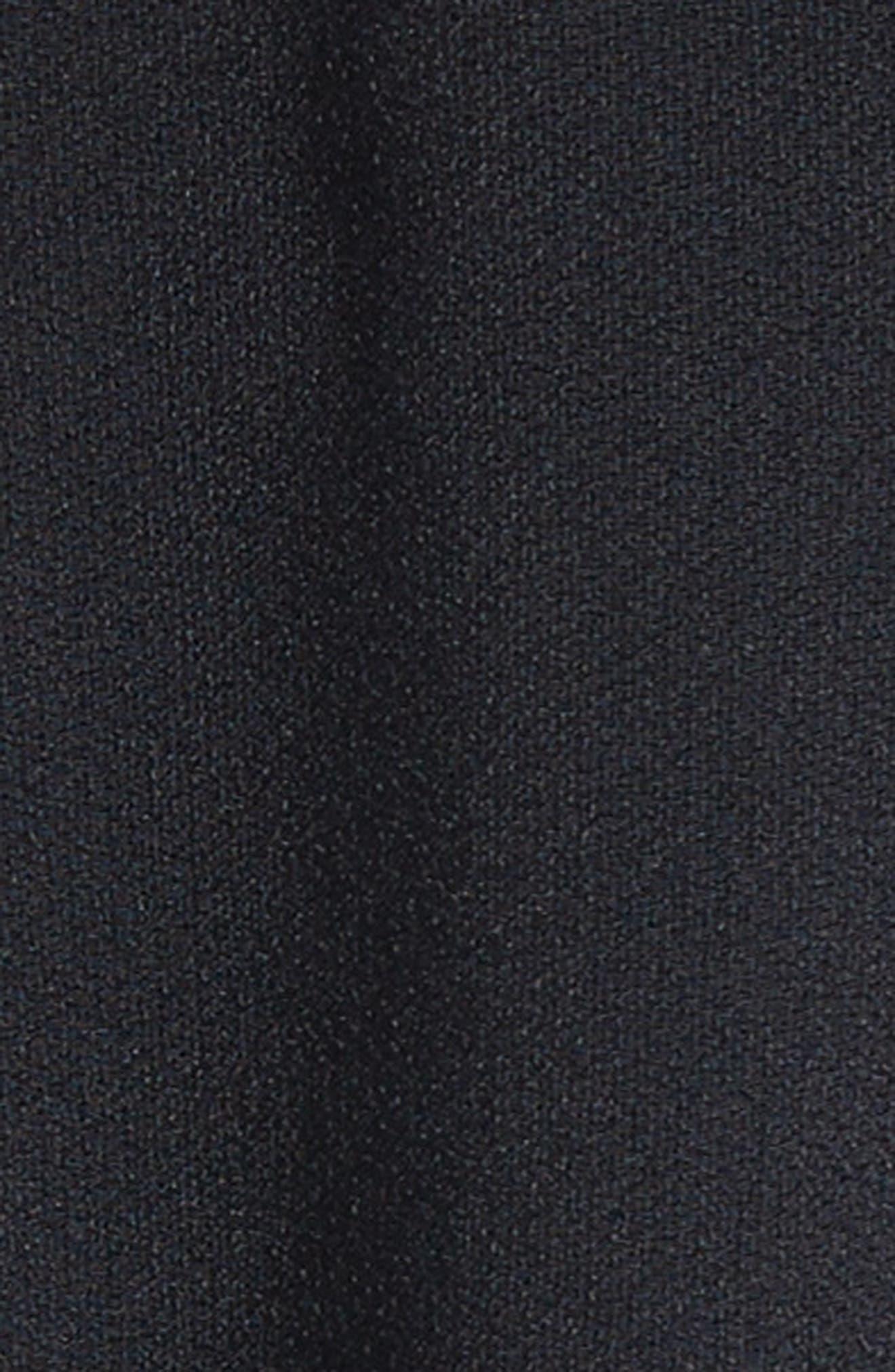 Flared Satin Back Crepe Dress,                             Alternate thumbnail 5, color,                             001
