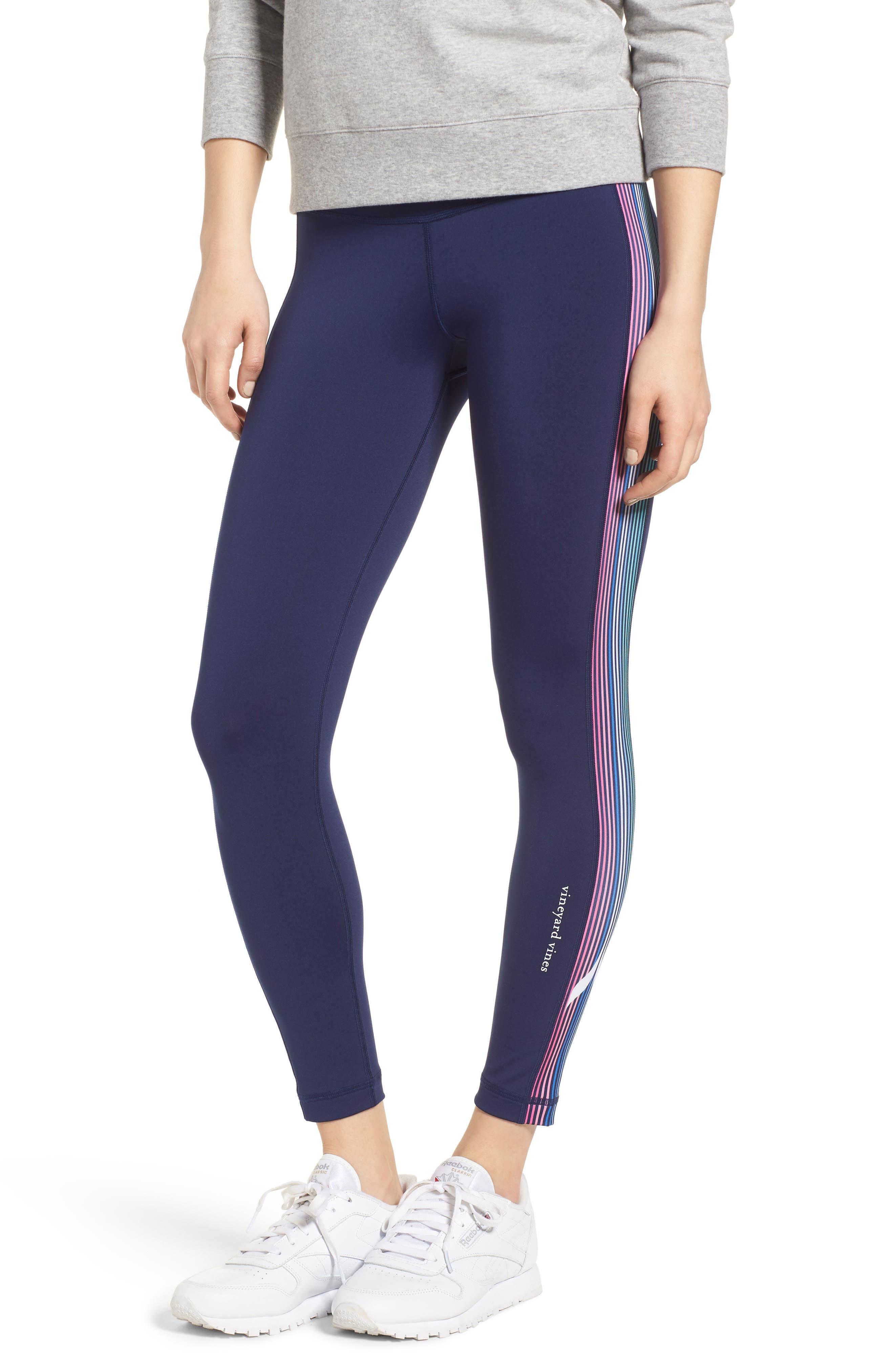 Whale Stripe Sports Leggings,                         Main,                         color, 476