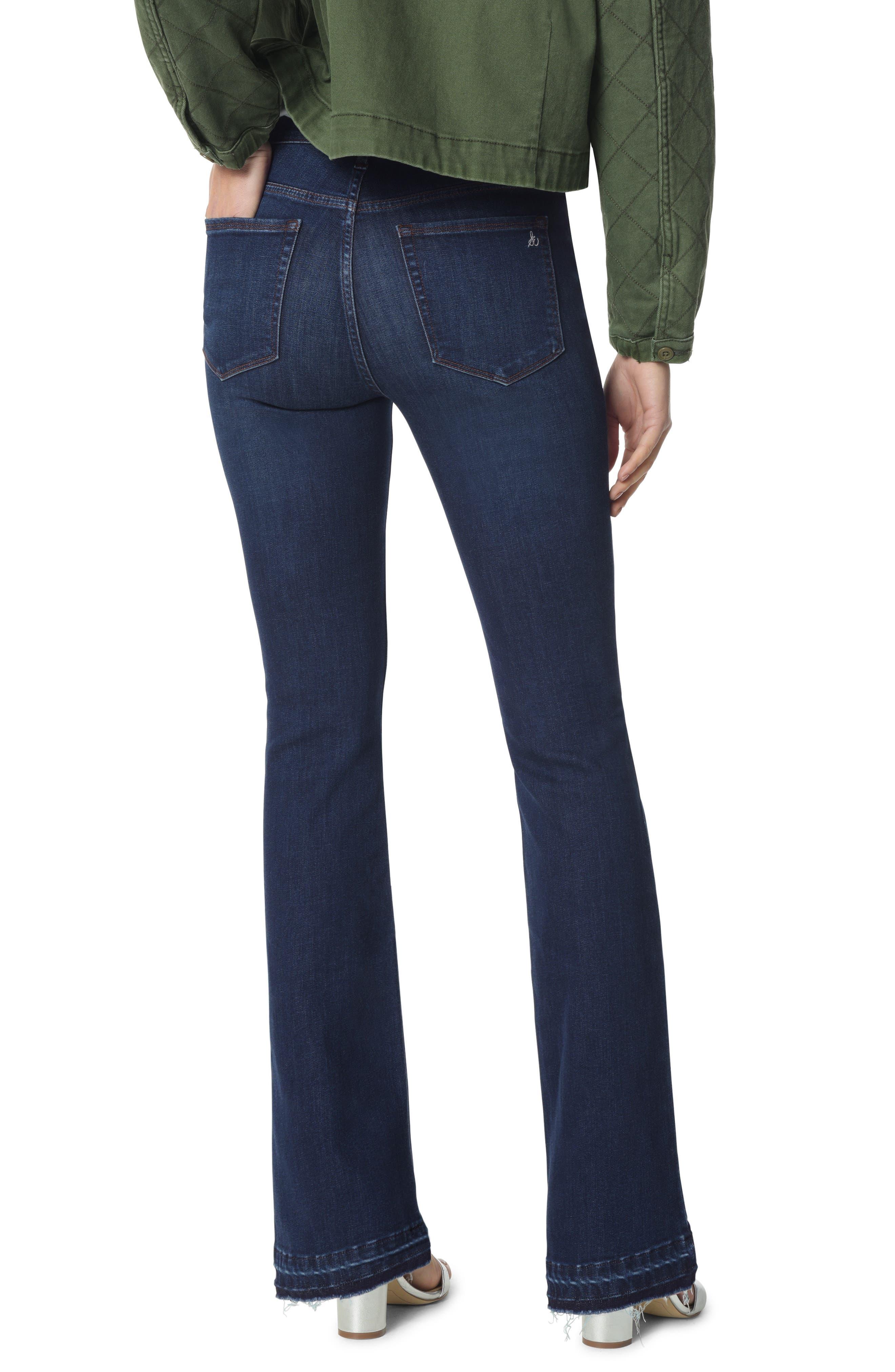 The Stiletto Raw Released Hem Bootcut Jeans,                             Alternate thumbnail 2, color,                             BABZ